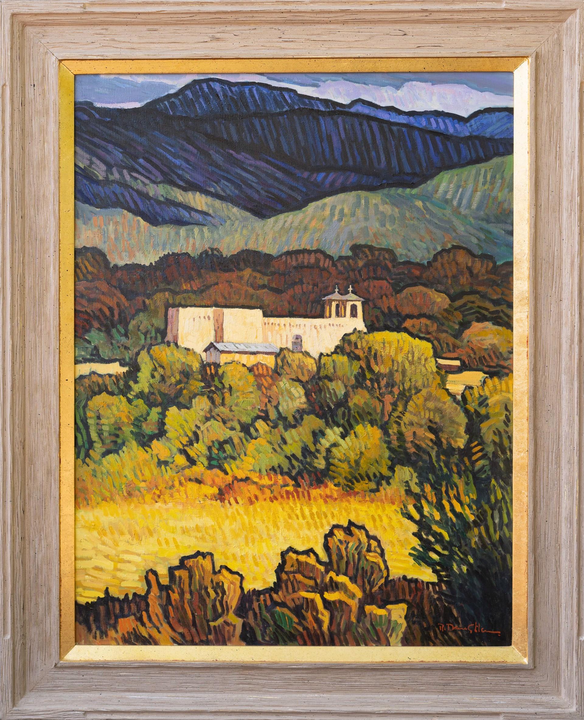 Church at Ranchos by Robert Daughters (1929-2013)
