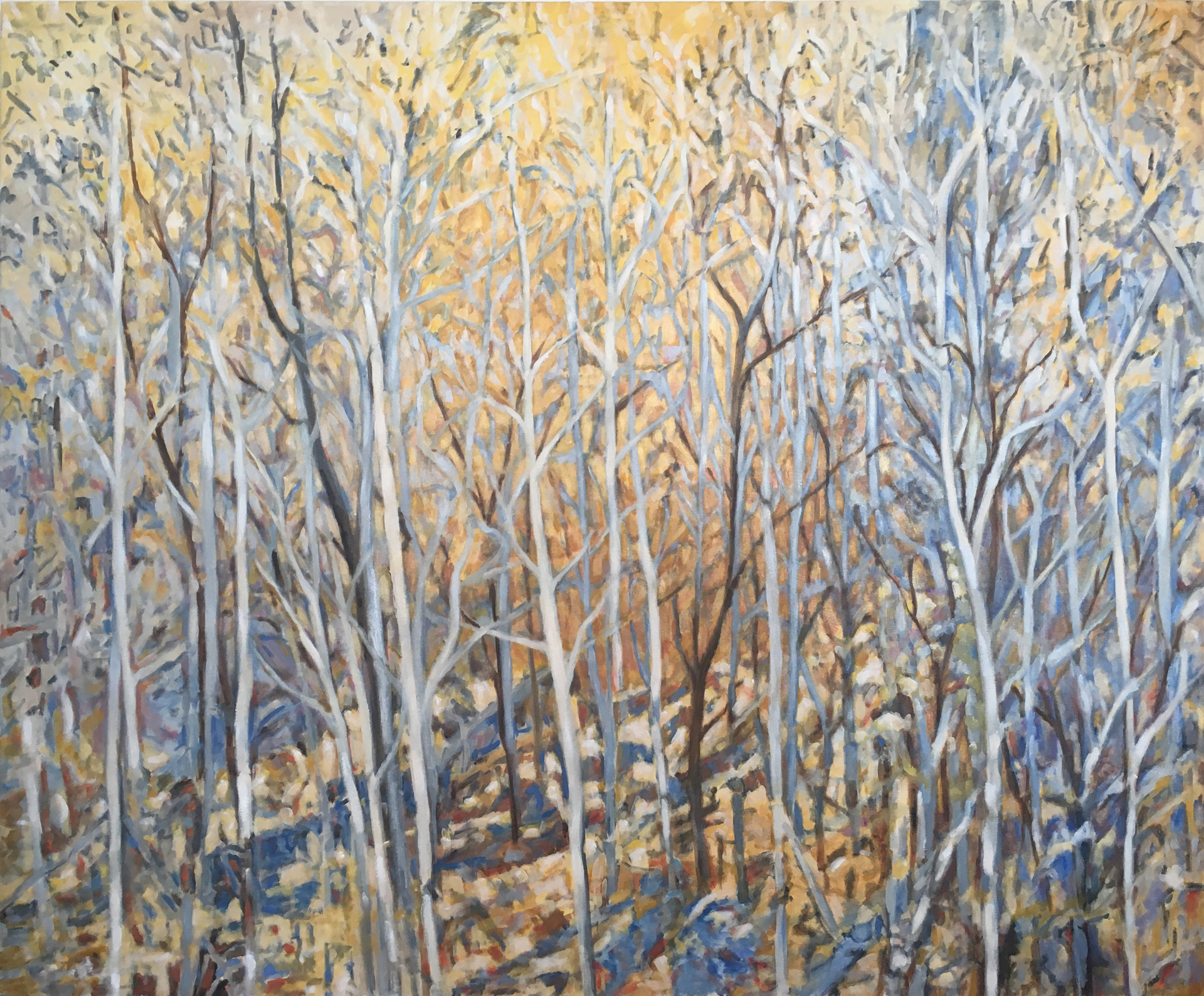 Thanksgiving Woods by Sally Breen