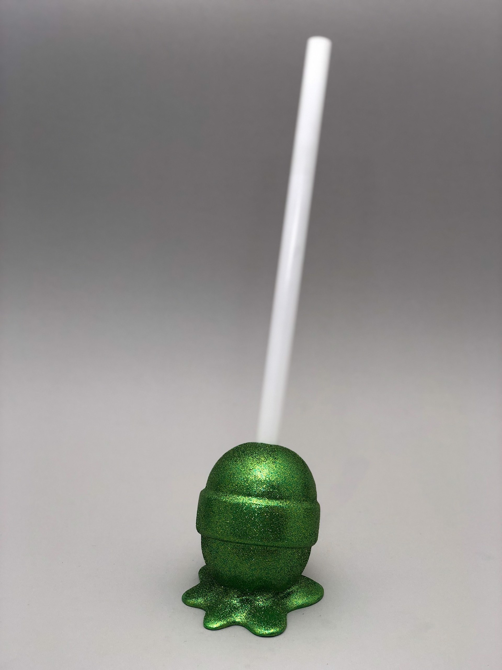 The Sweet Life, small, sparkly green Lollipop by Elena Bulatova