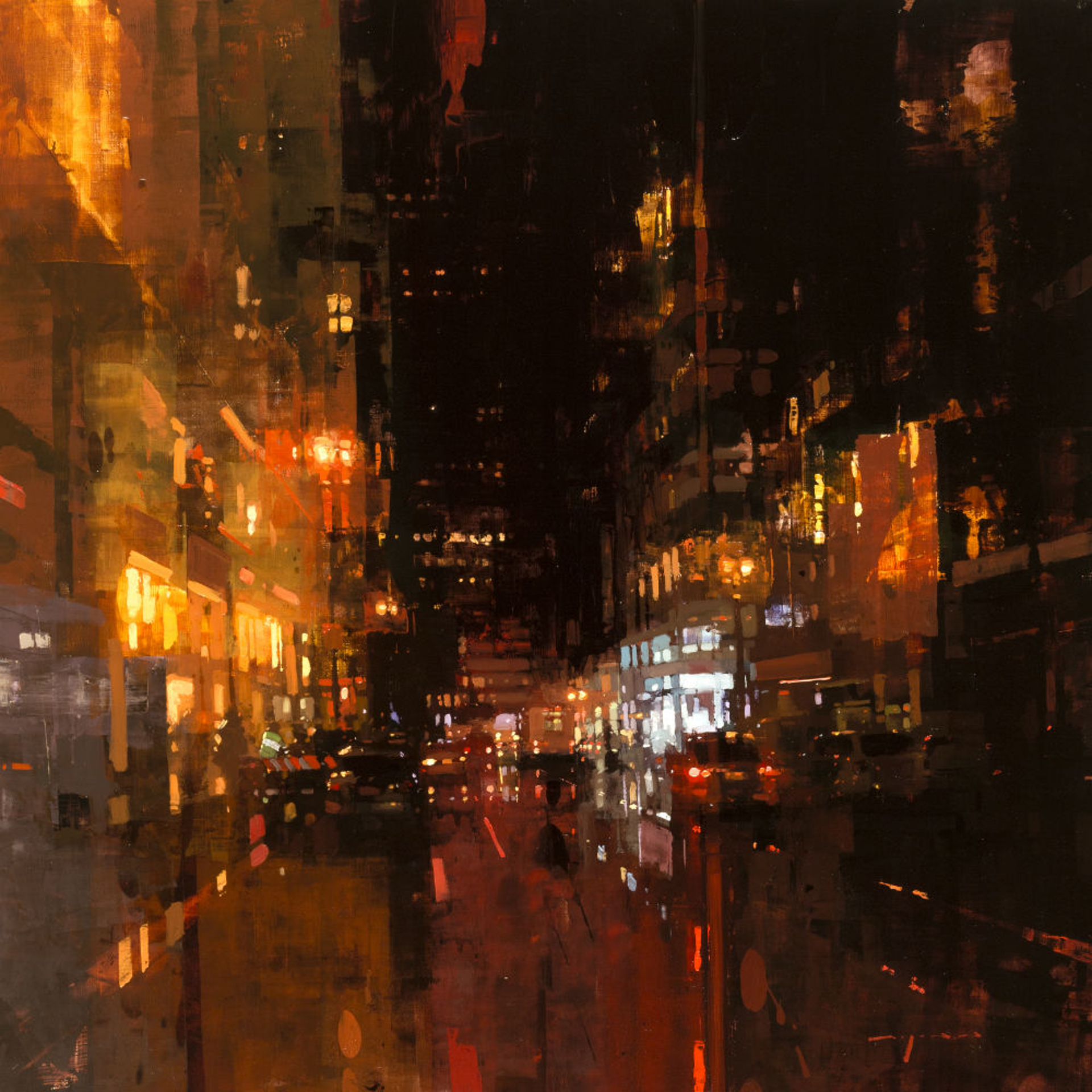 SF Night in Red by Jeremy Mann