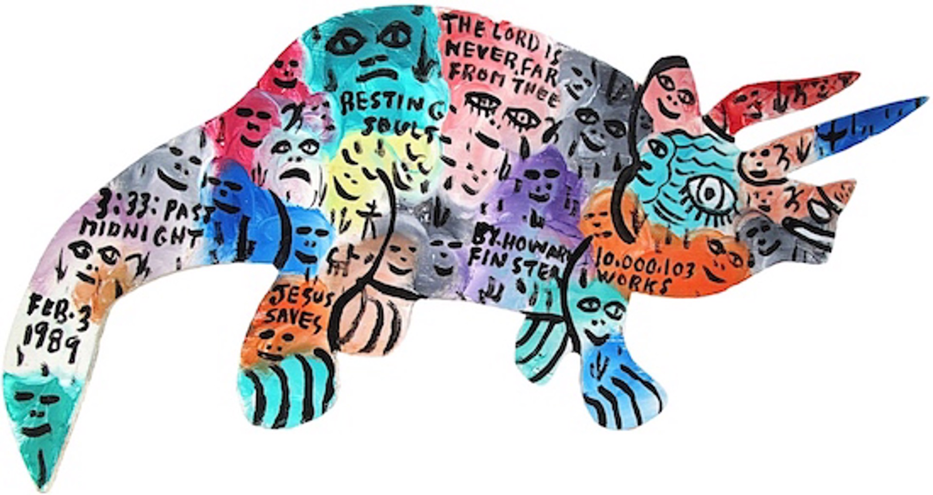Triceratops by Howard Finster