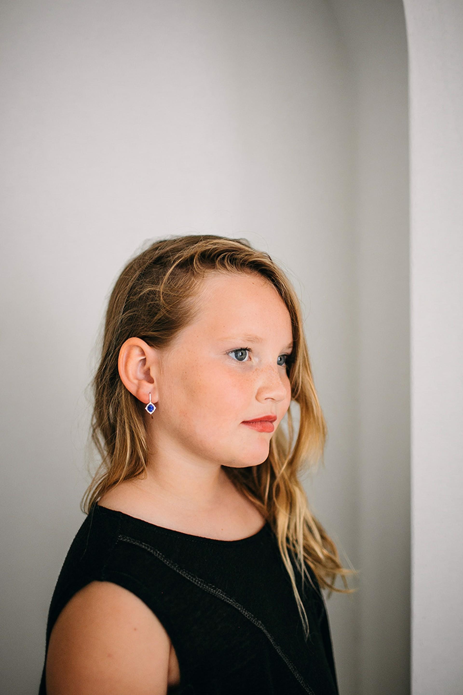 Sugar Azure Sapphire Earrings by Carley Jewels