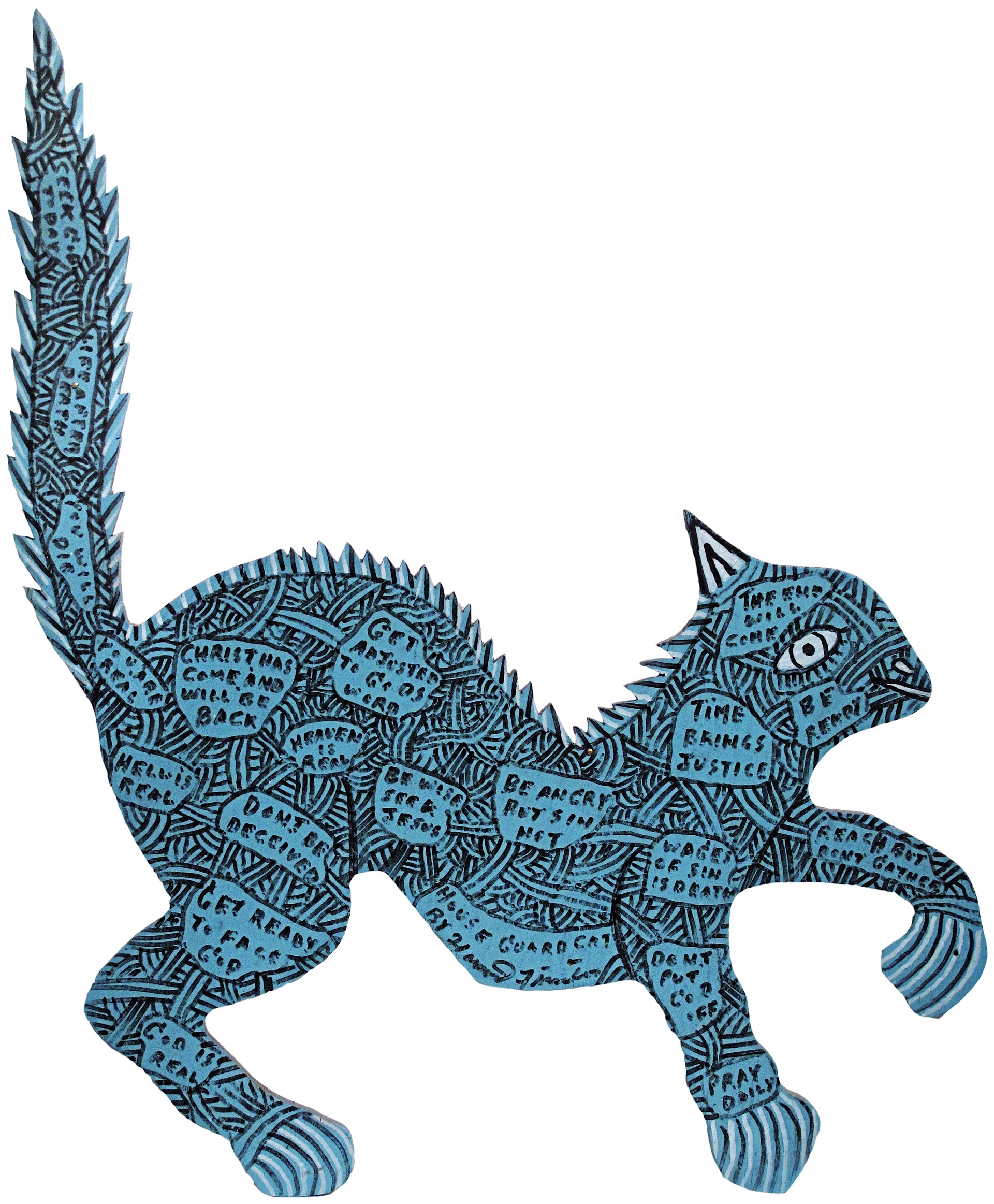 House Guard Cat by Howard Finster