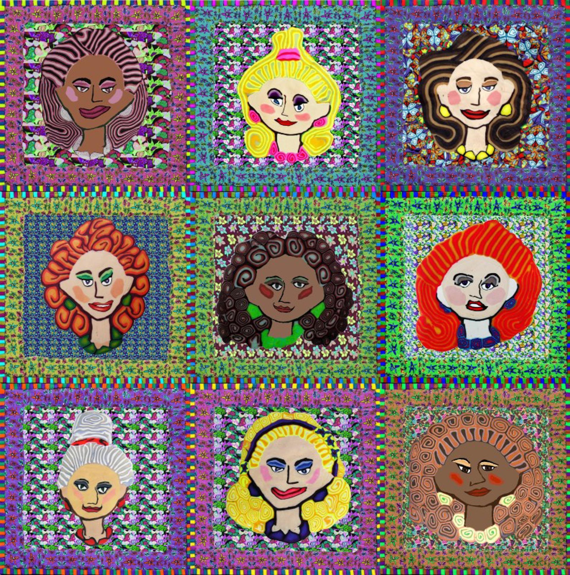 Nine Ladies by Samantha Long - Prints
