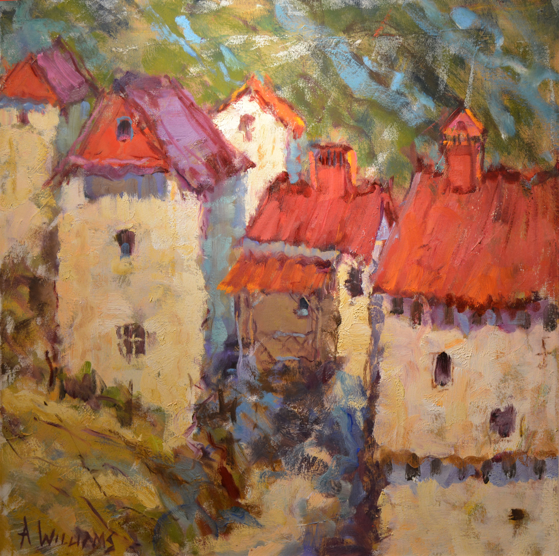 La Ville de St Cirq La Popie by Alice Williams