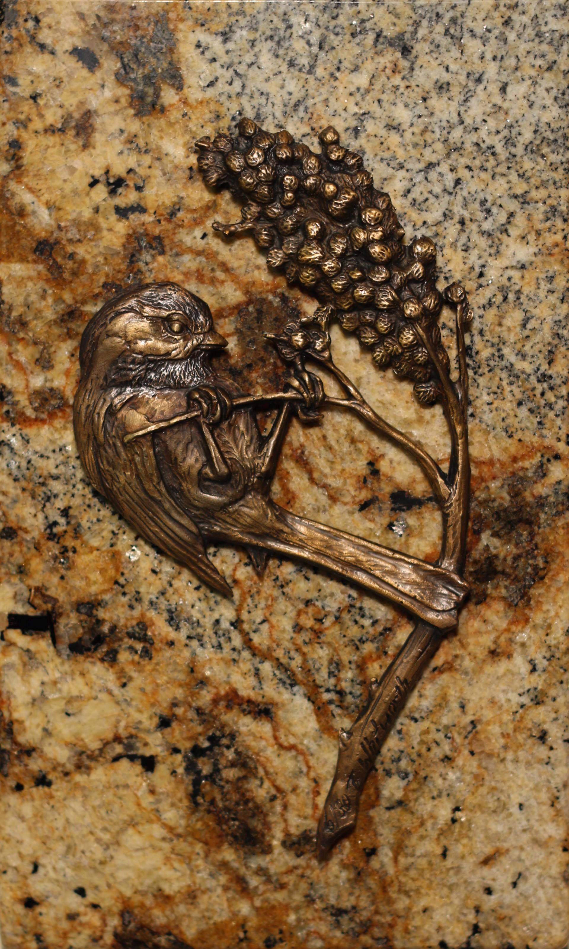 Chickadee 1 Bird On Bottom by Tim Whitworth