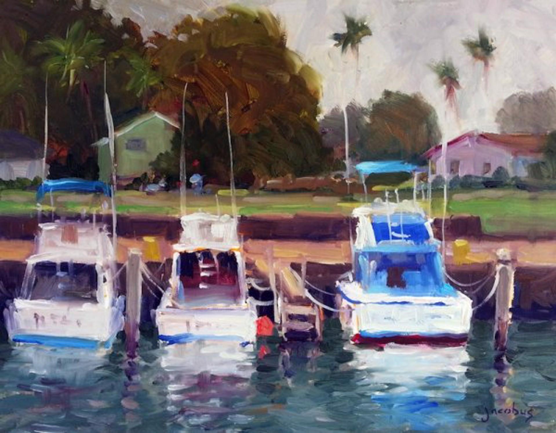 Jacobus: Fishing Boats, Haleiwa Harbor by Jacobus Baas