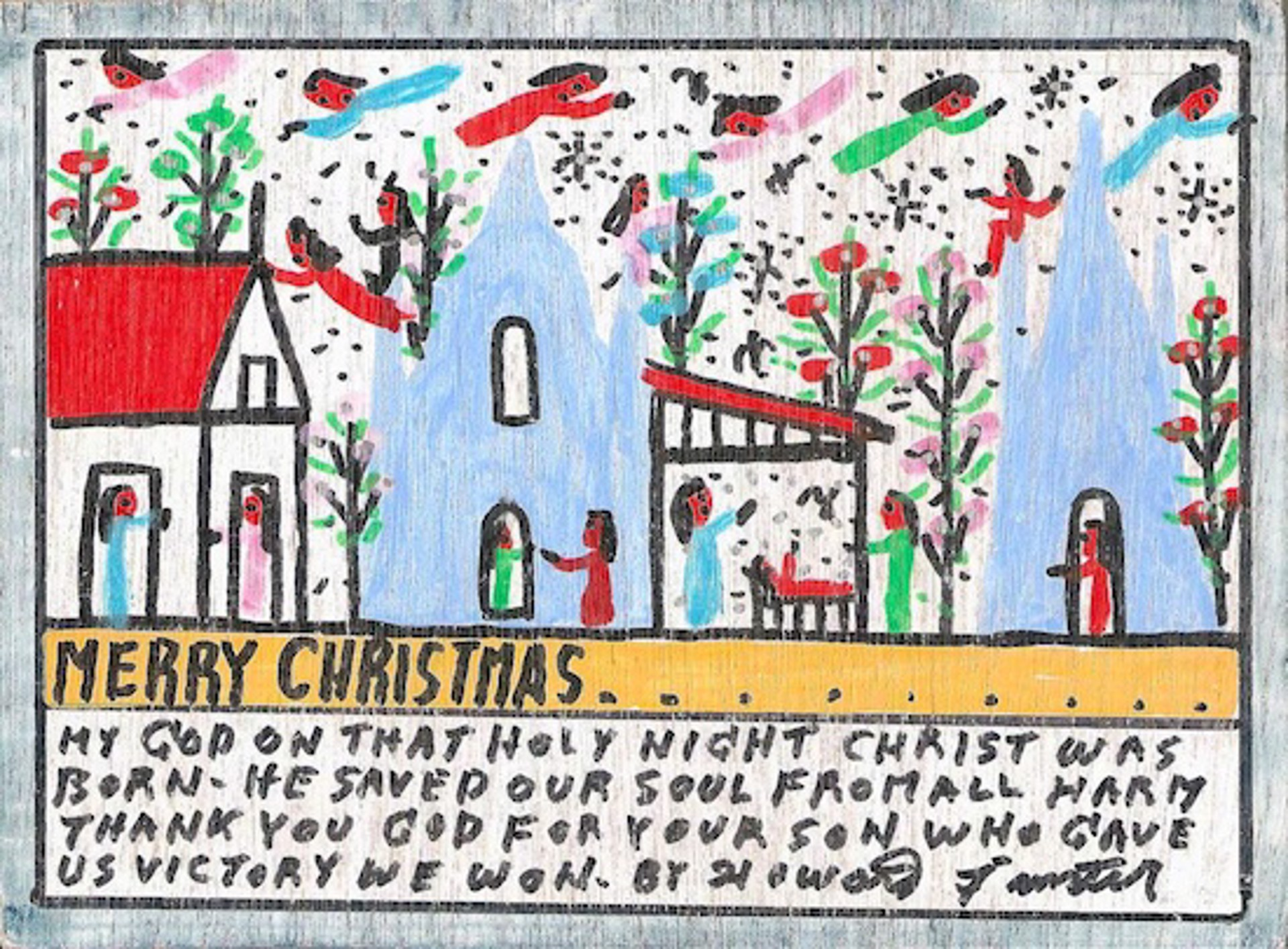 Merry Christmas by Howard Finster