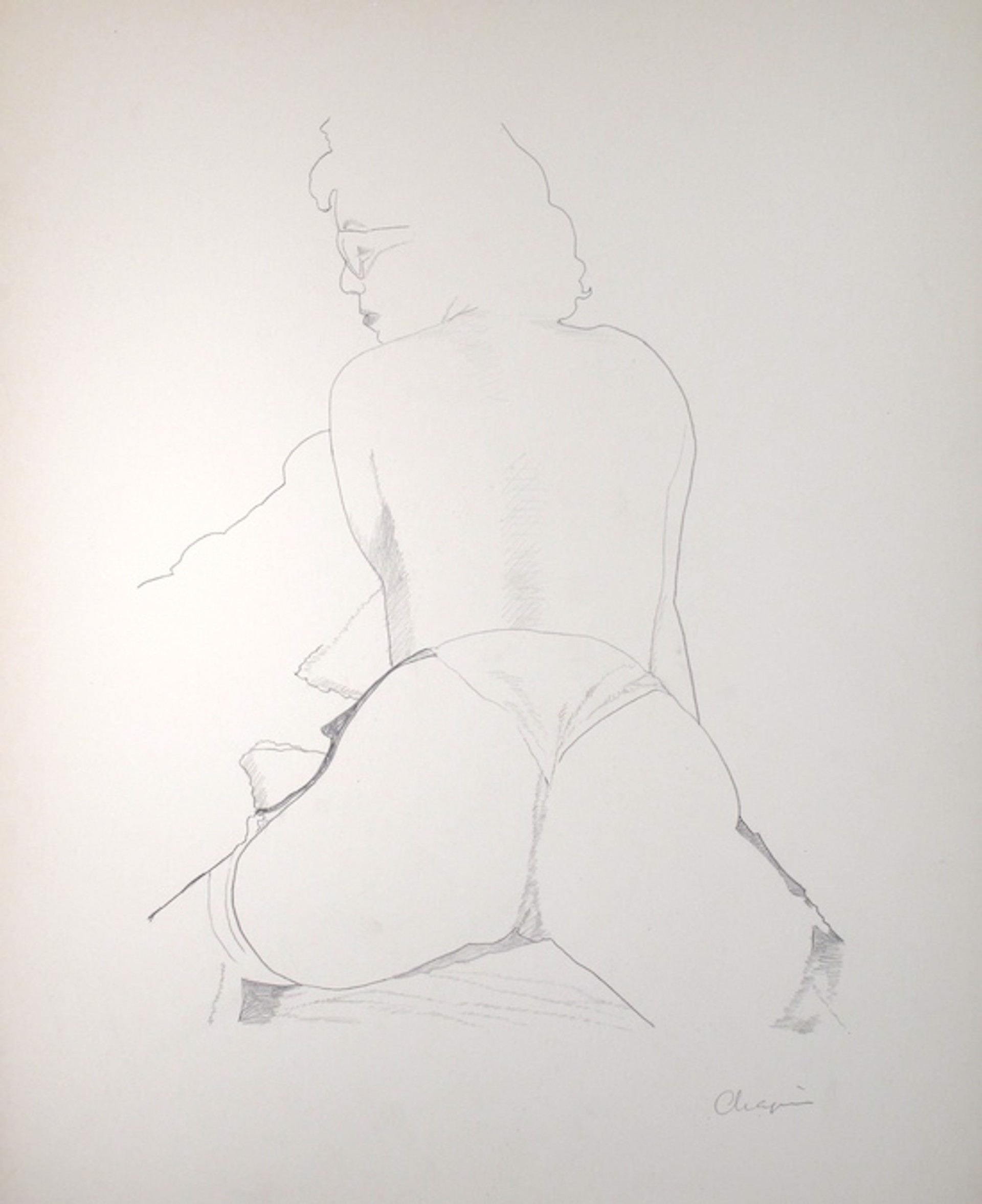 Legs Spread (Rear View) by David Chapin
