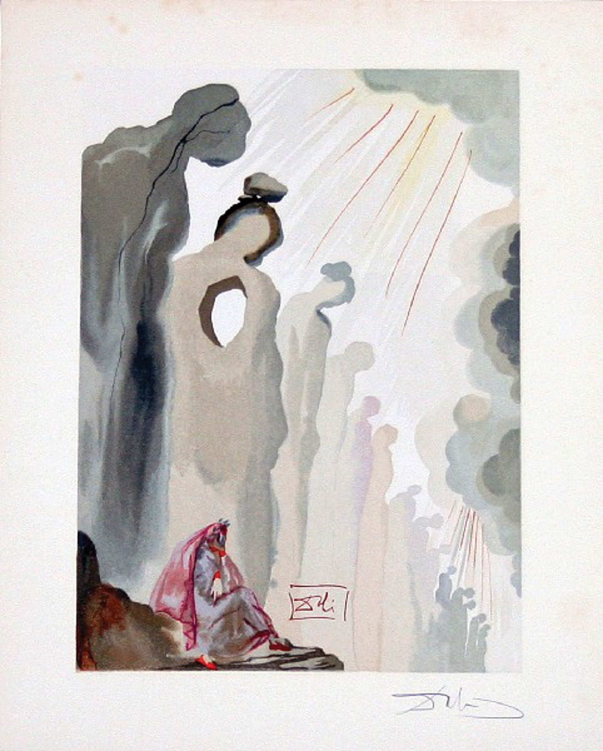 Purgatory Canto 13: The Second Terrace from The Divine Comedy by Salvador Dali (1904 - 1989)