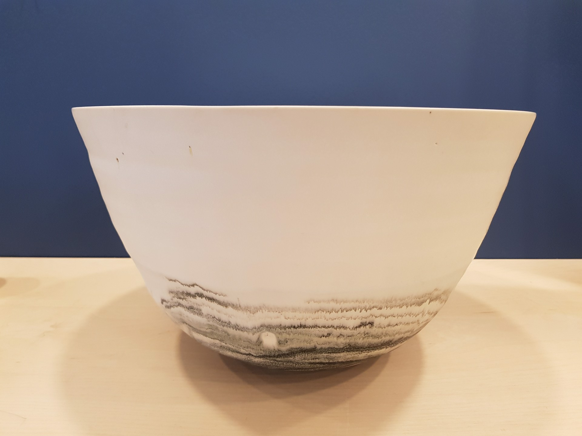 Large Charcoal Bottom Bowl by Kyra Cane