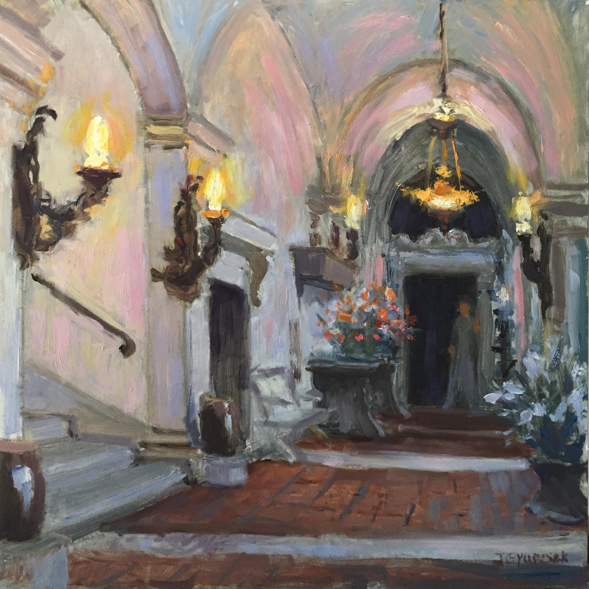 Vizcaya Courtyard by Joe Gyurcsak