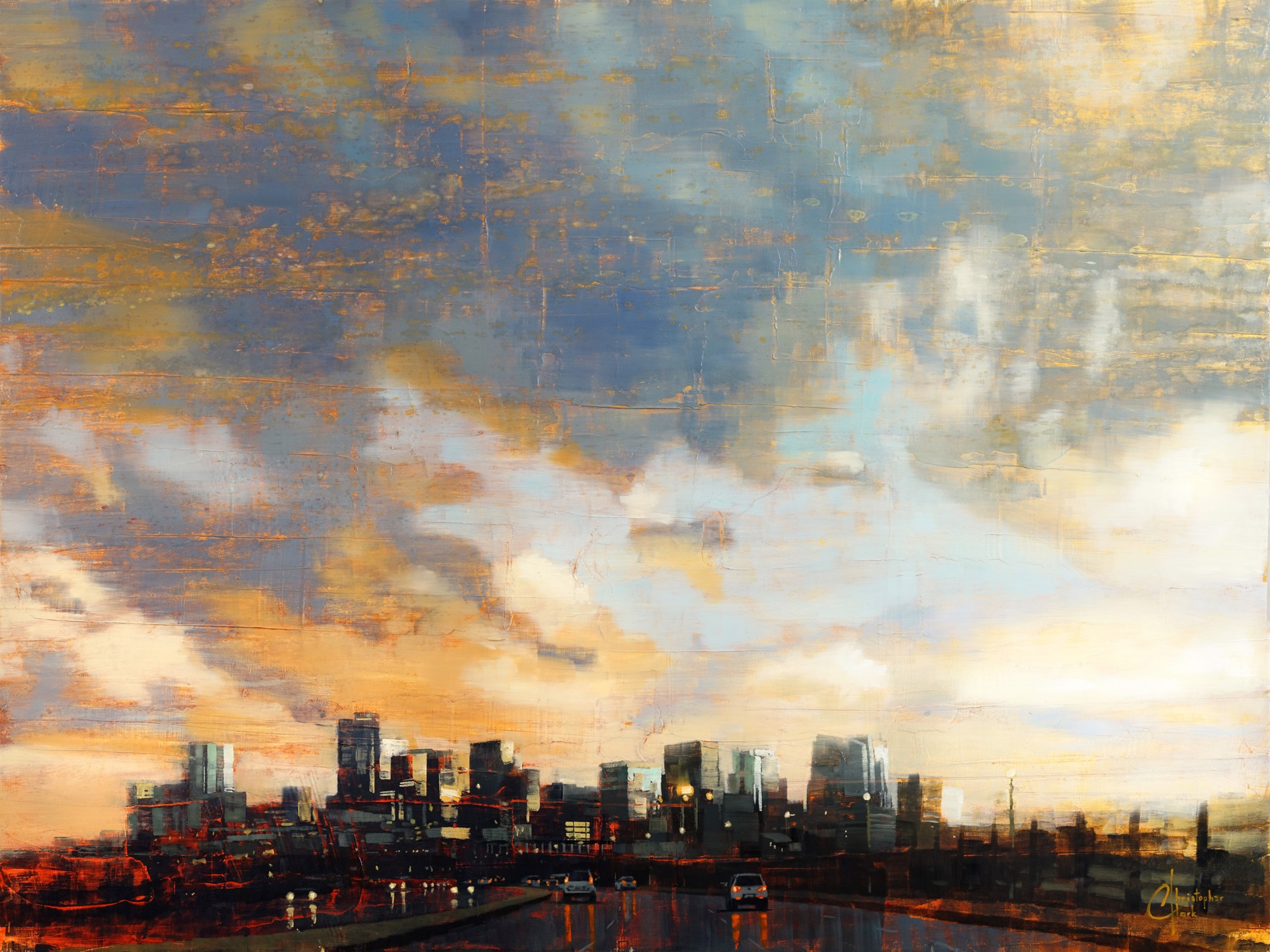 Denver Skyline Beneath the Afternoon Storm by Christopher Clark
