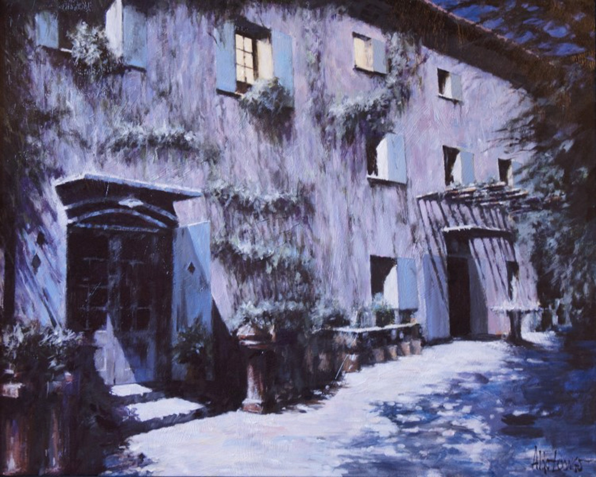 Moonlight en Provence by Aldo Luongo