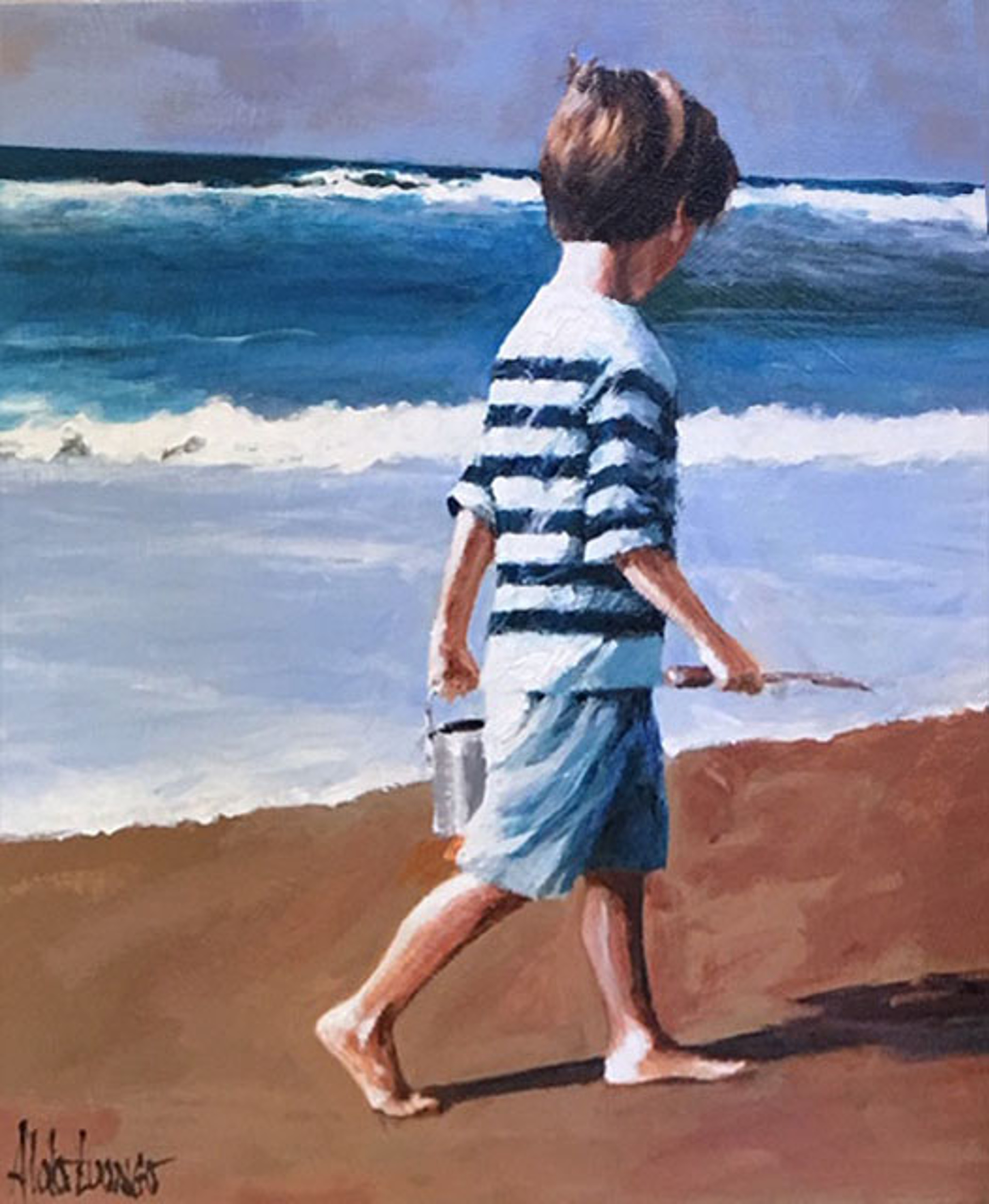 By The Sea I (Boy) by Aldo Luongo