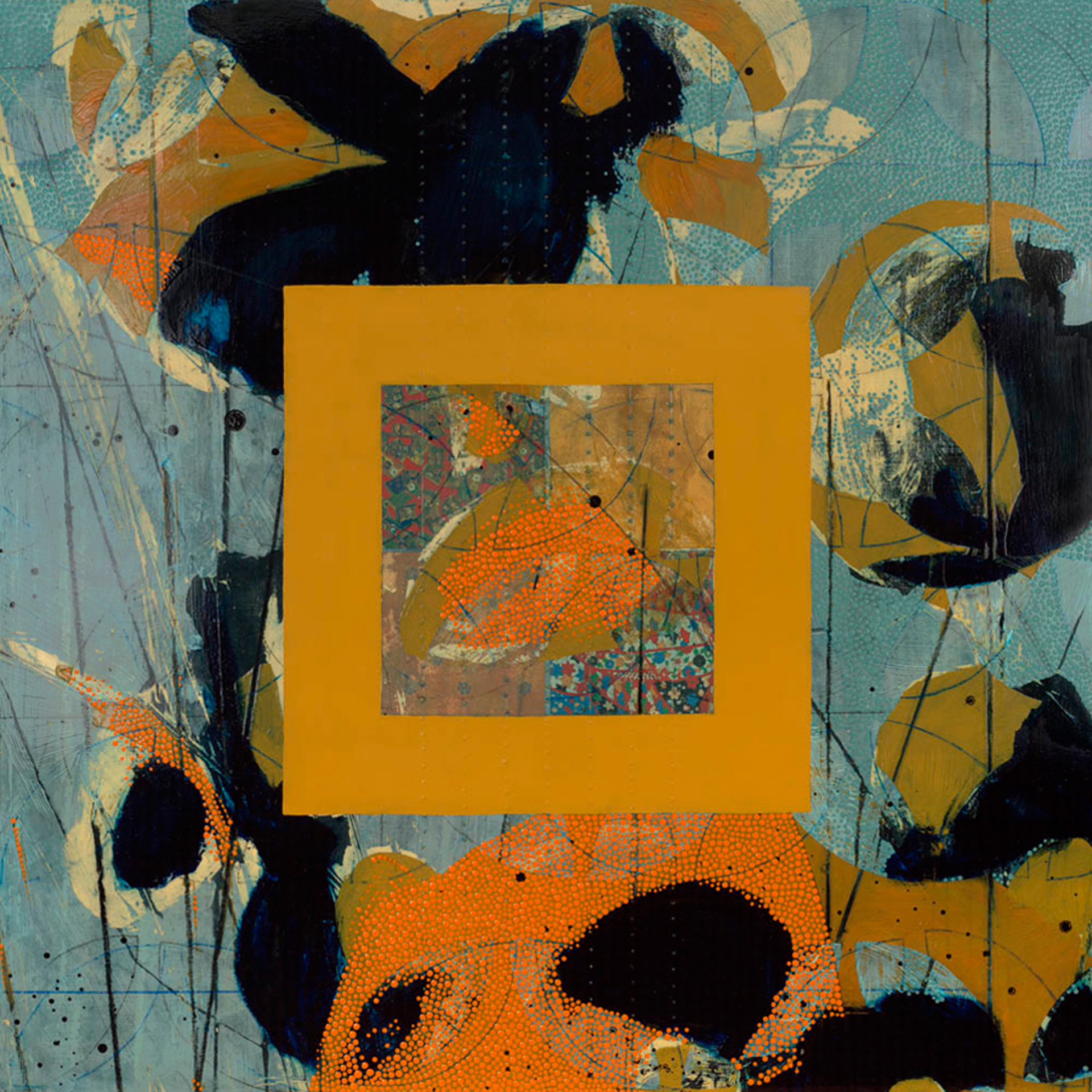 Quilt and Poppy 2  by Nina Tichava