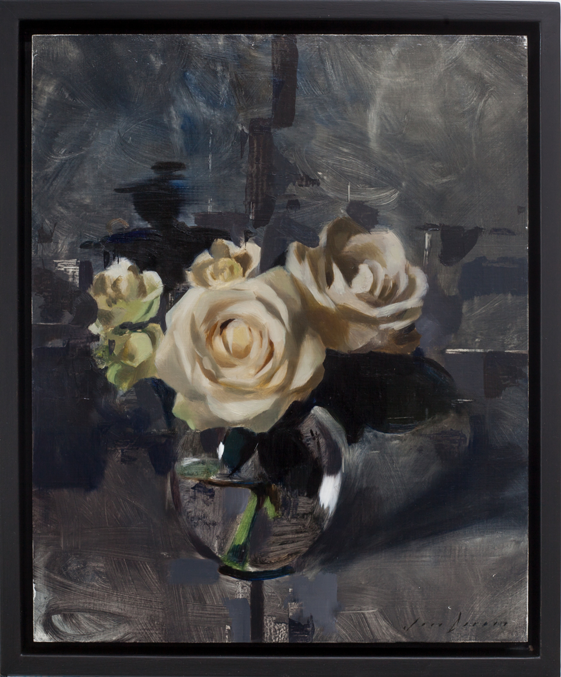 White Roses and Dark Grey by Jon Doran