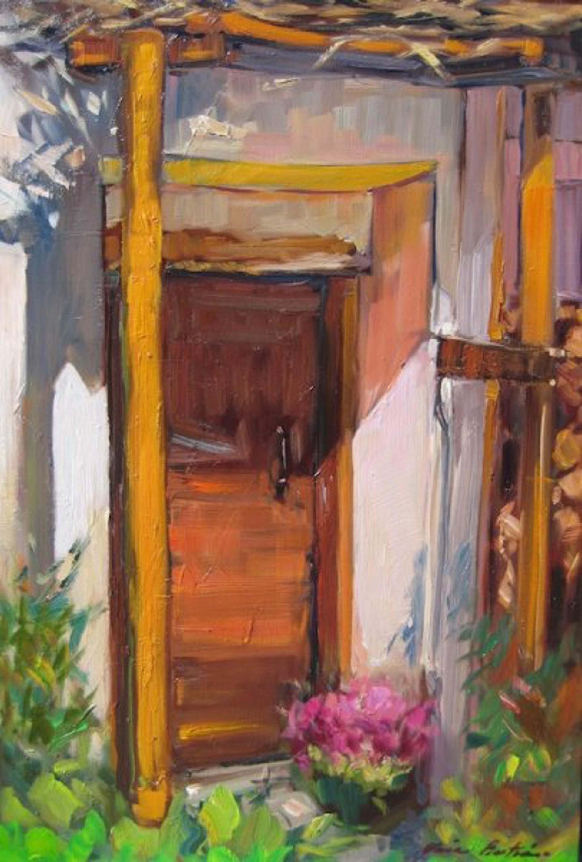 Barn Door In The Alps by Maria Bertrán