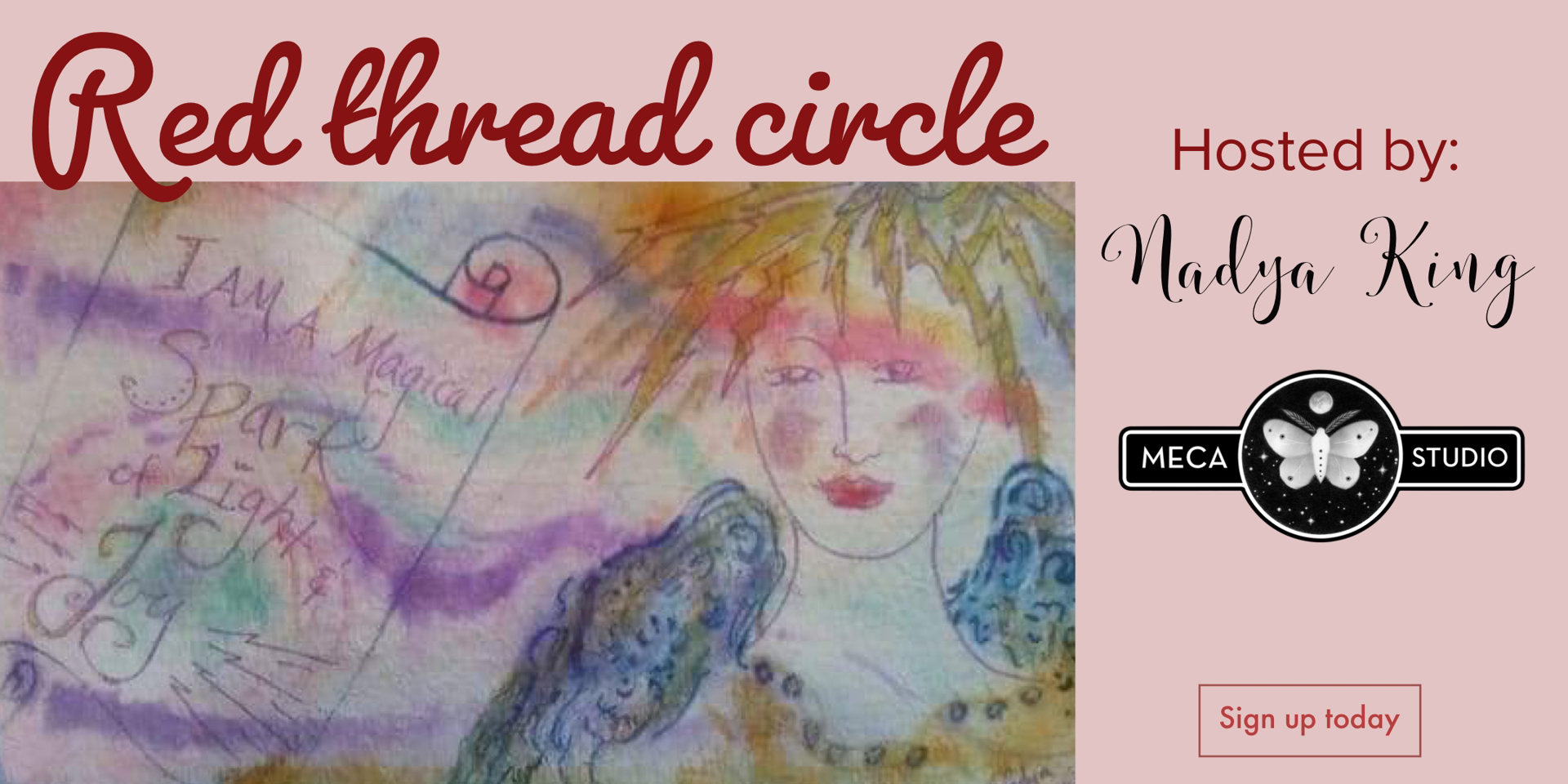 Red thread Women's Circle by Nadya King (McMinnville, OR)