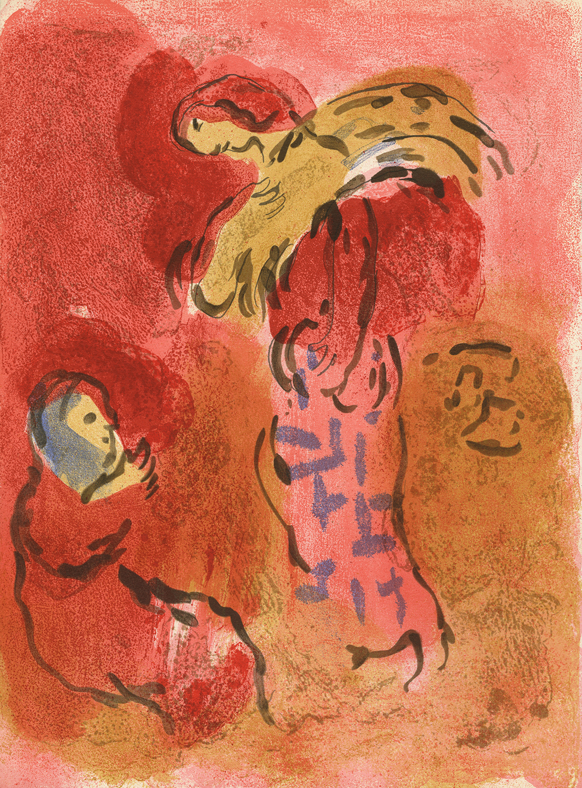 Ruth Glaneuse (Ruth Gleaning), M 246/269 by Marc Chagall