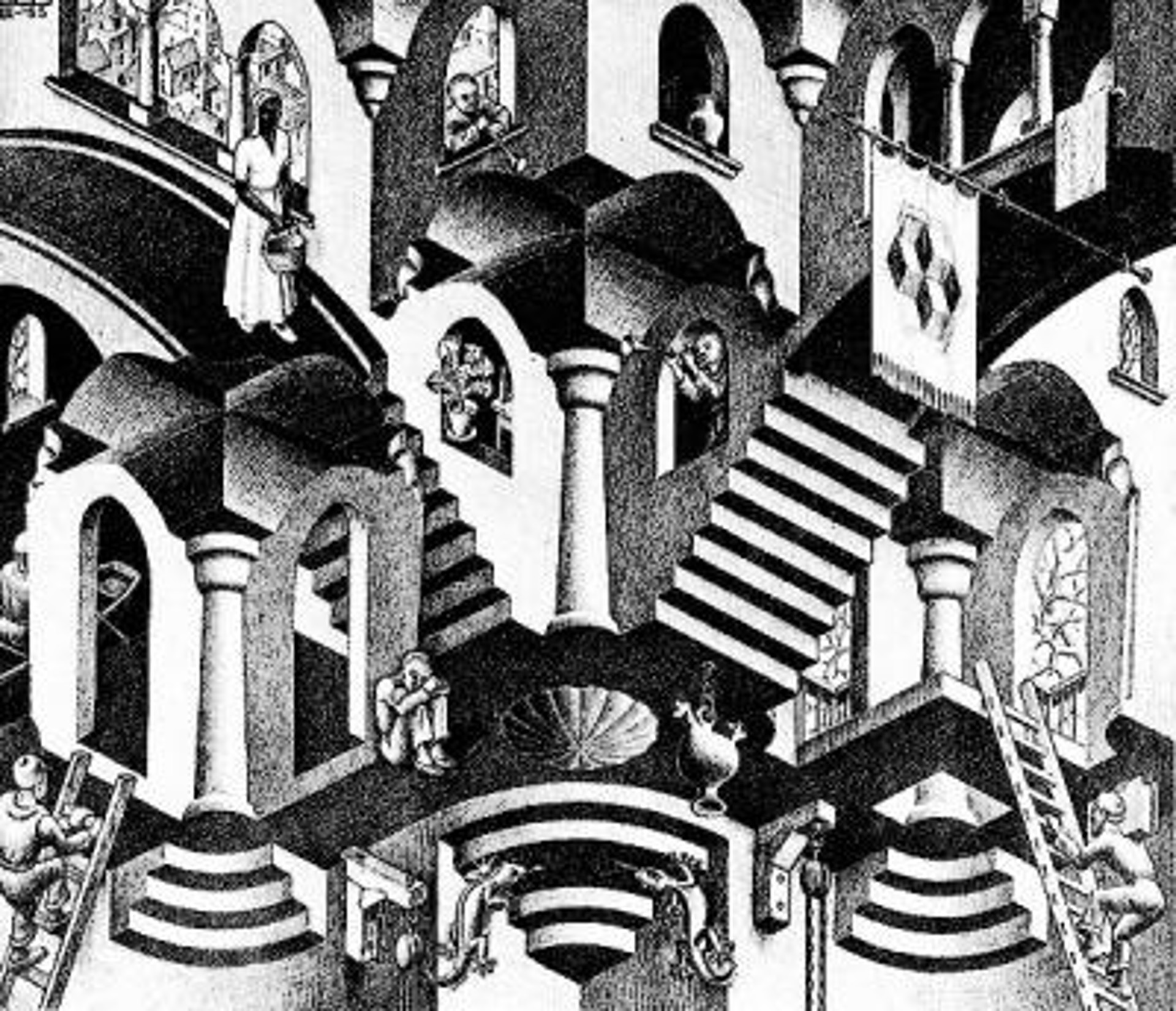 Concave and Convex by M.C. Escher
