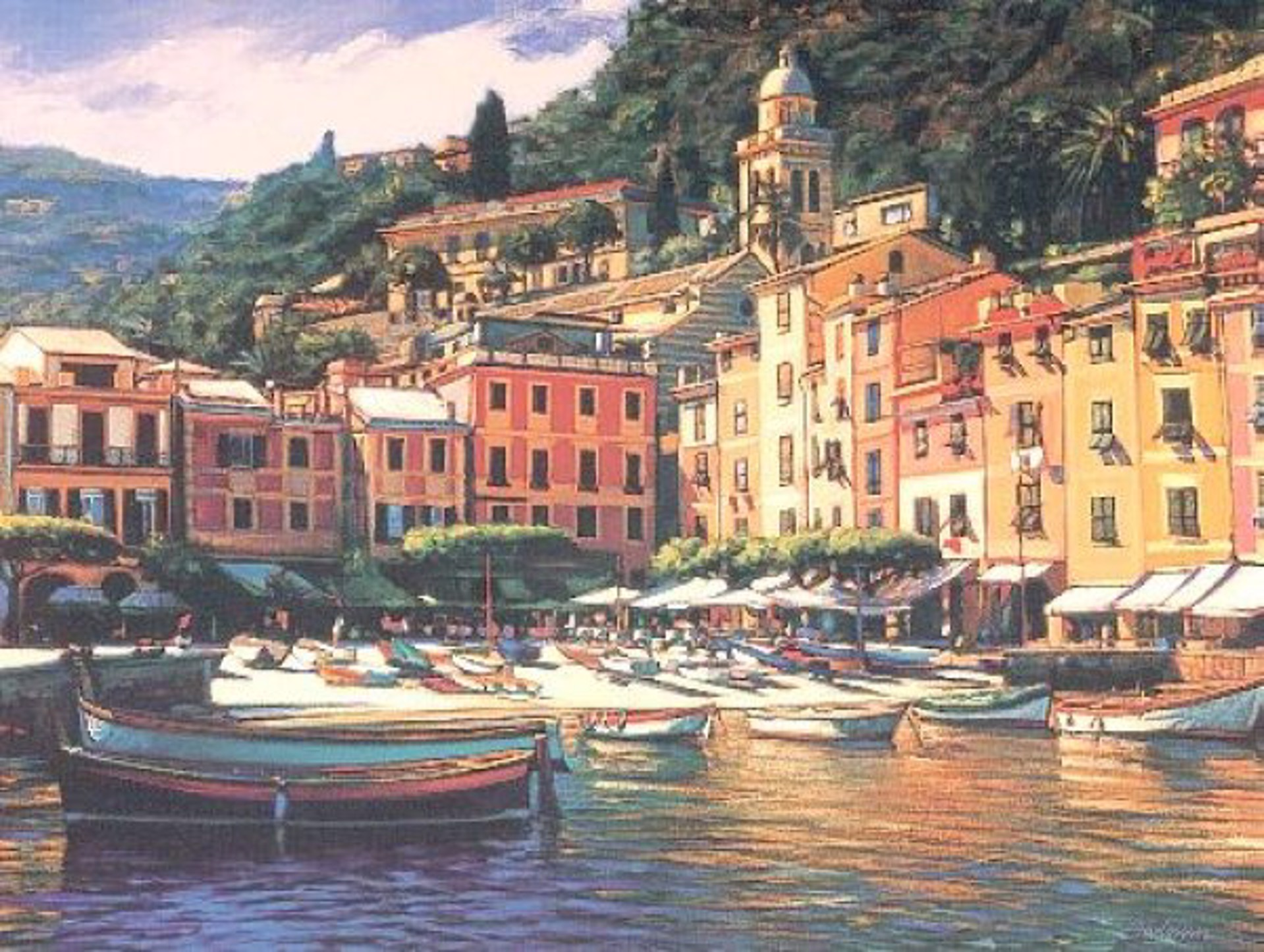 Song Of Portofino (Serigraph) by Tom Swimm