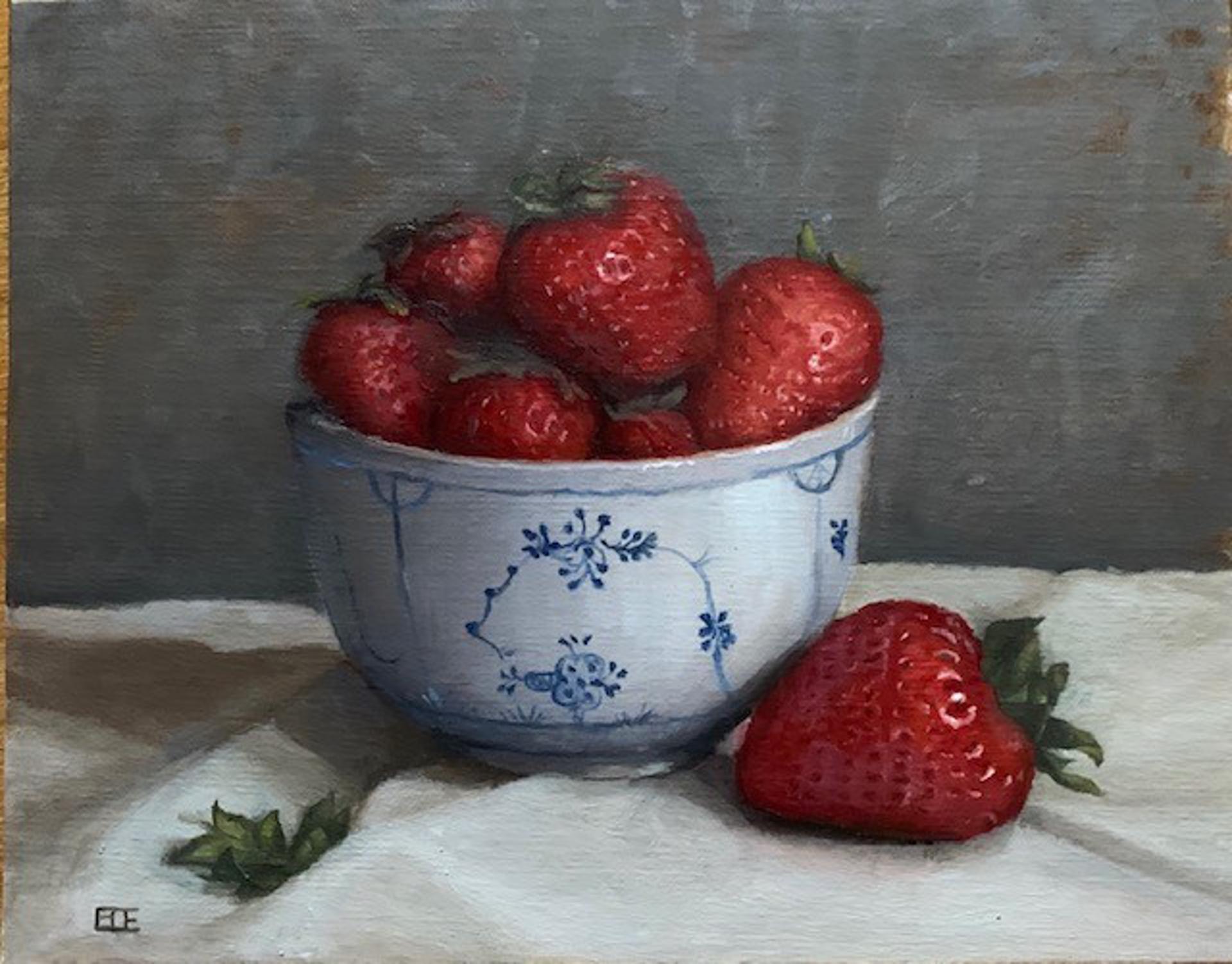 Strawberries by Barbara Efchak