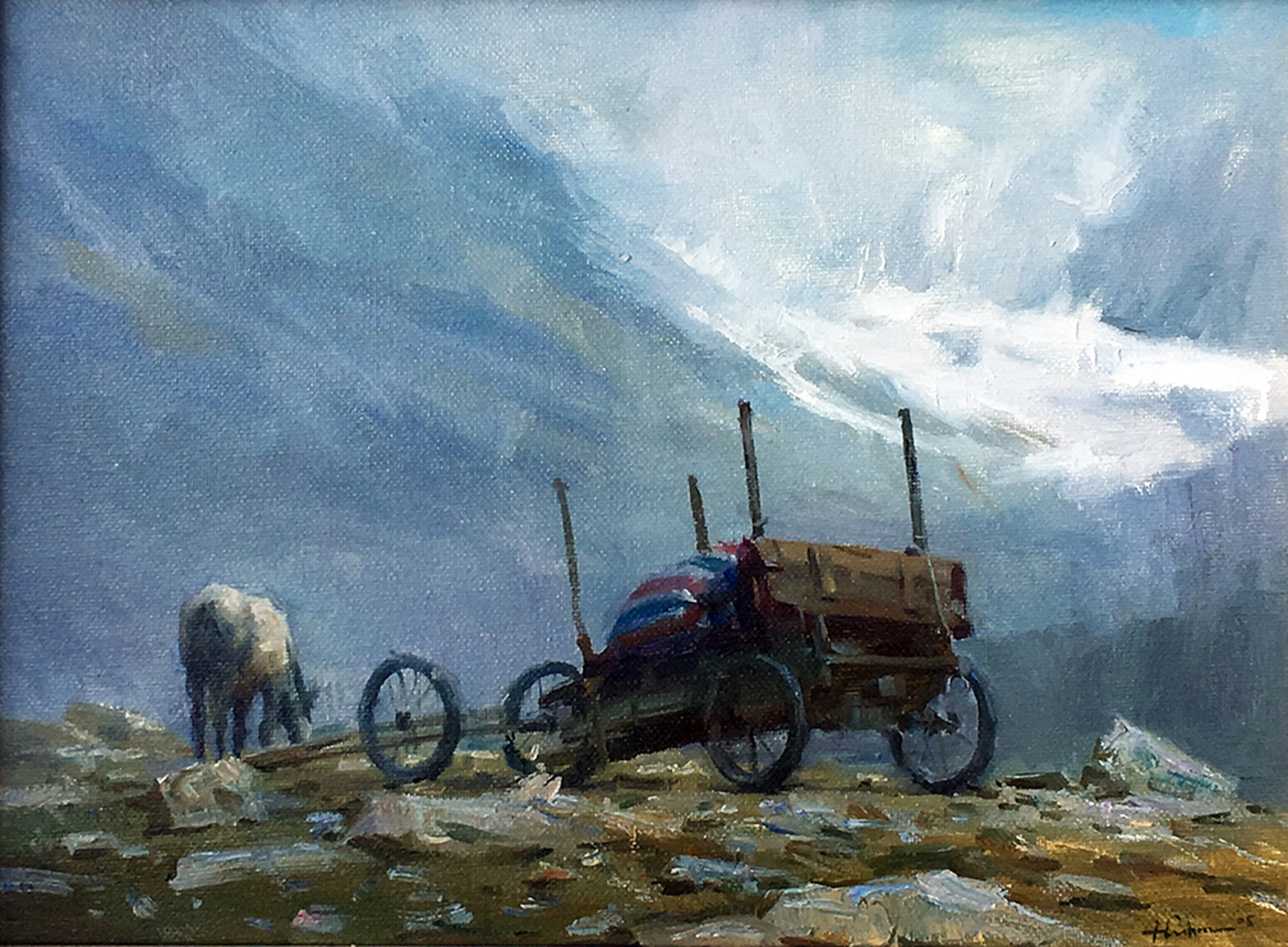 At the Foothills of Mt. Everest by Huihan Liu