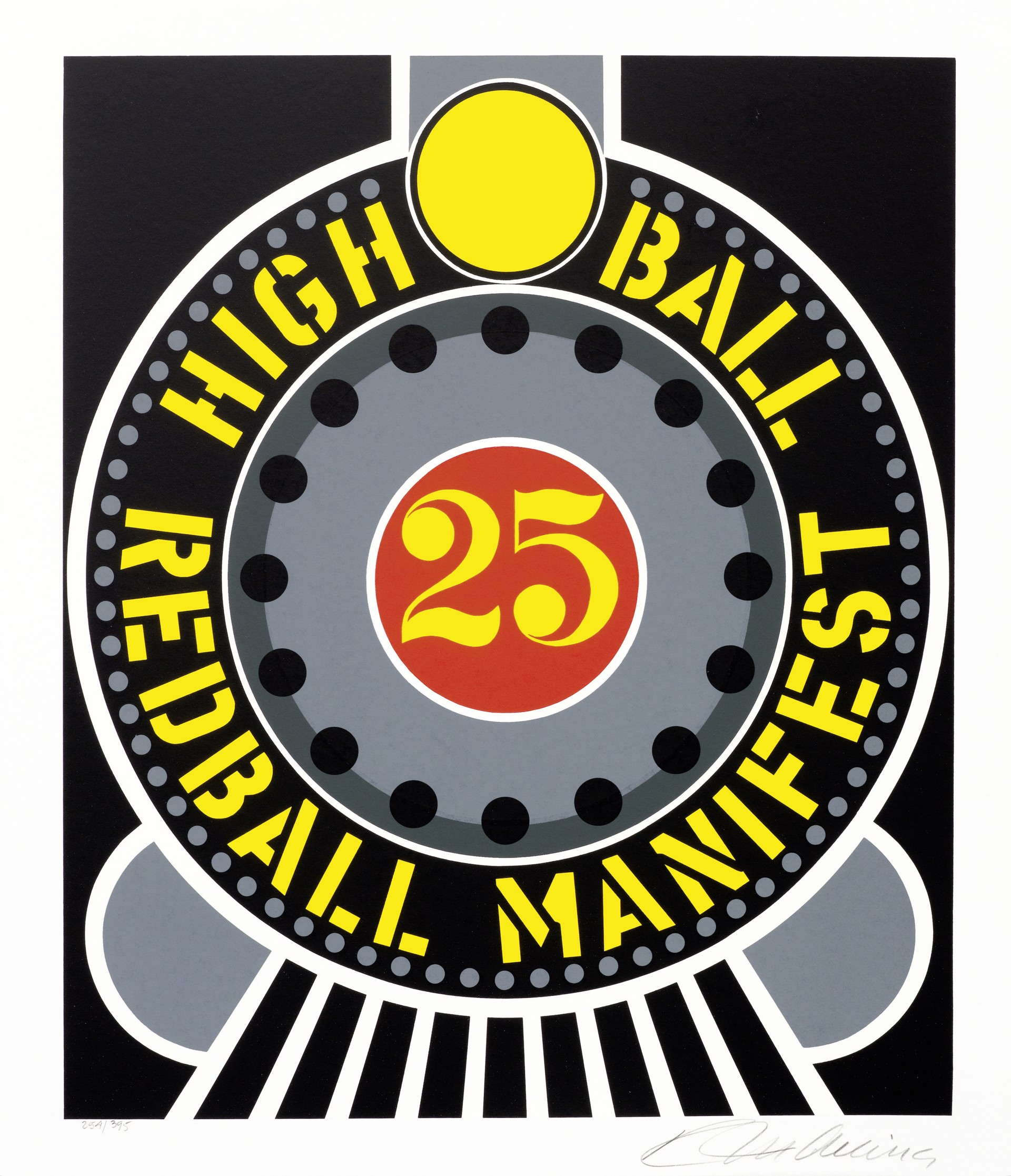 High Ball Red Ball Manifest from the American Dream Portfolio by Robert Indiana