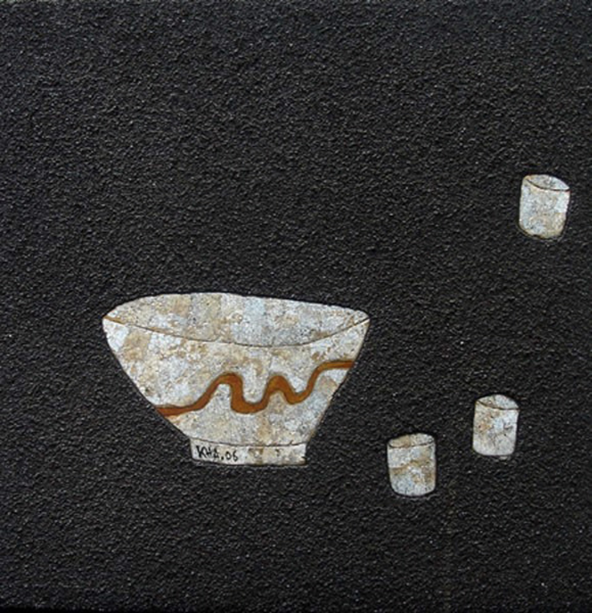 Bowl and Teacups I by Bui Cong Khanh