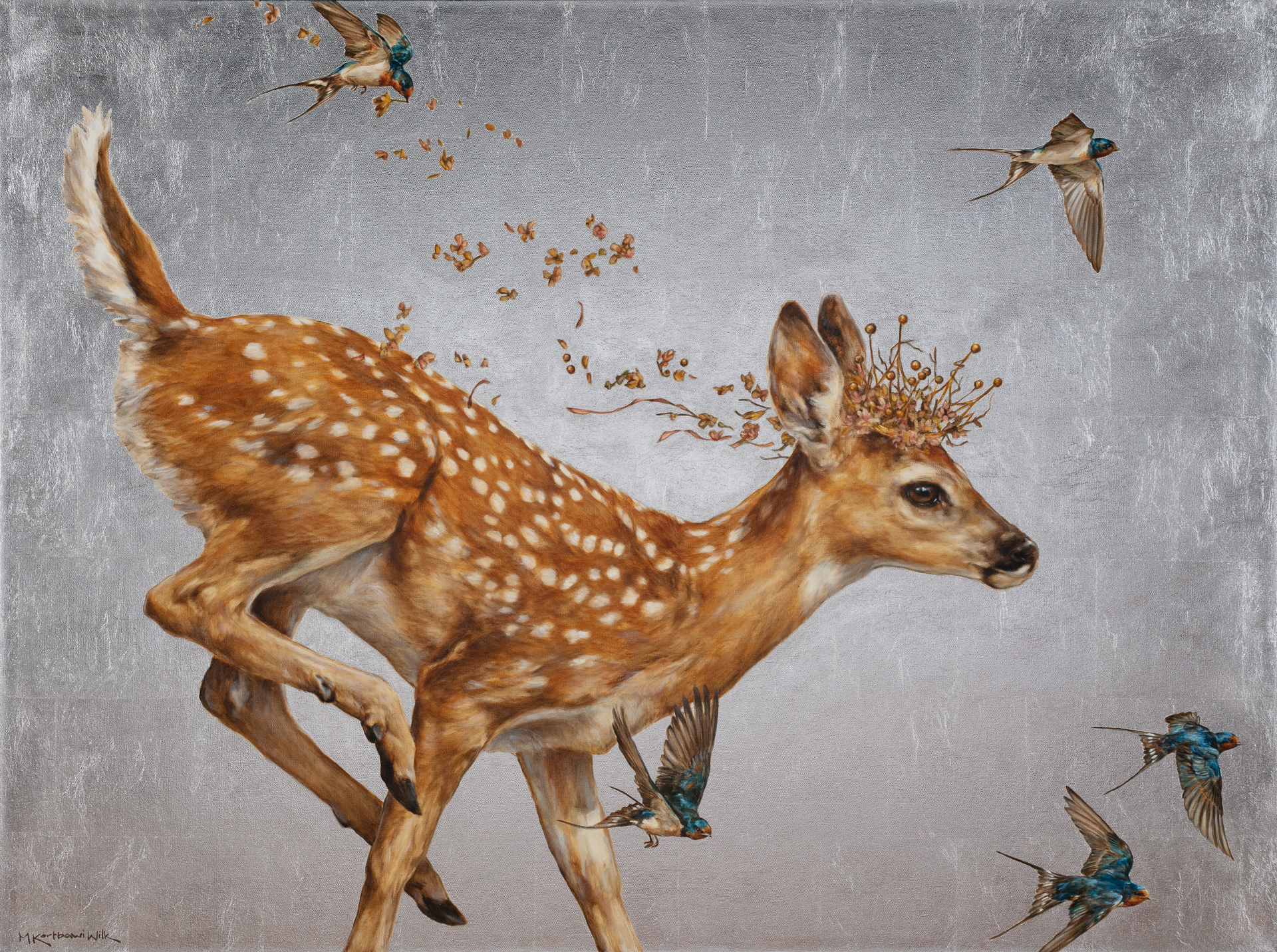 When the Deer Play by Michele Kortbawi Wilk