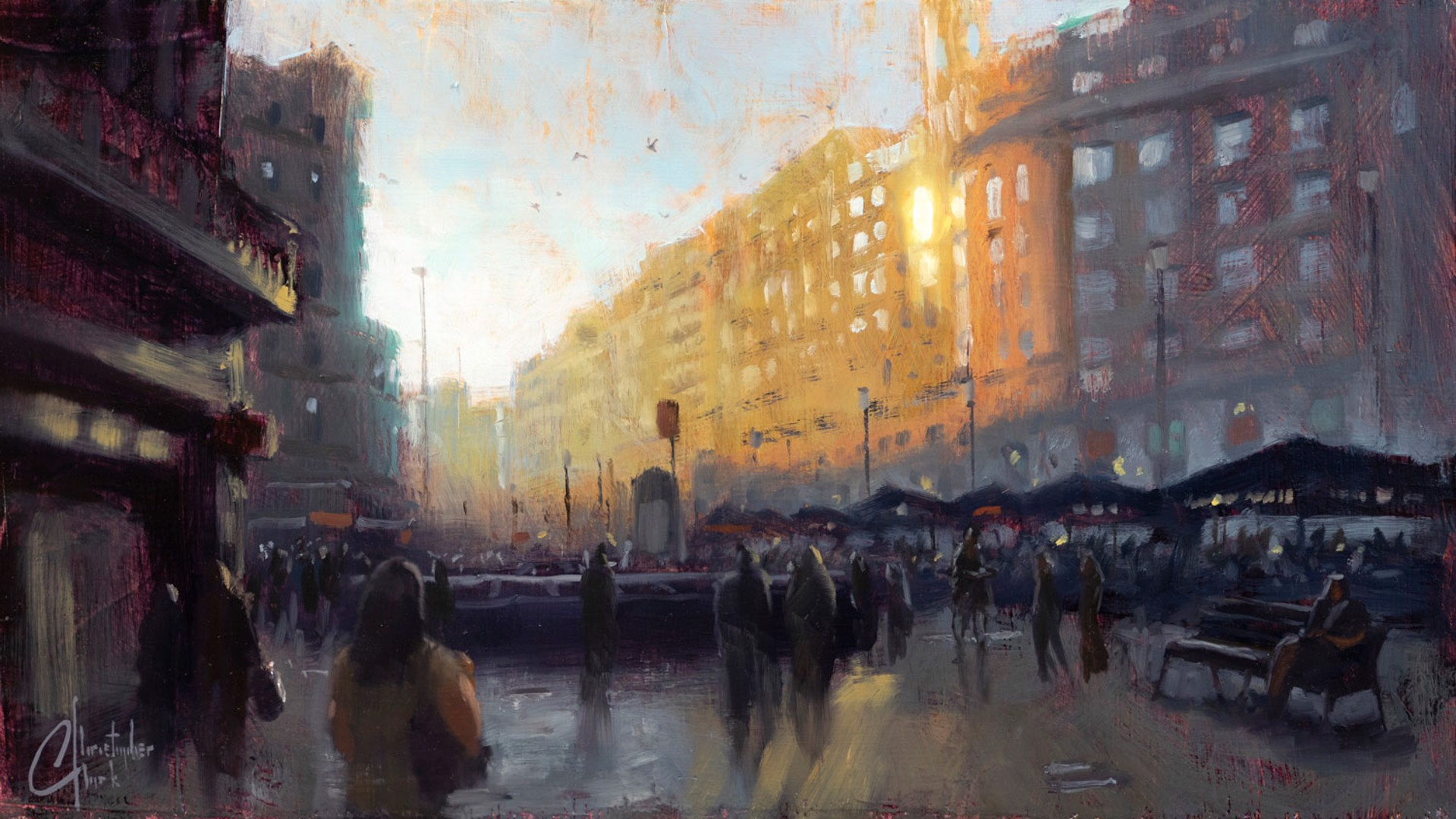 Barcelona Street by Christopher Clark