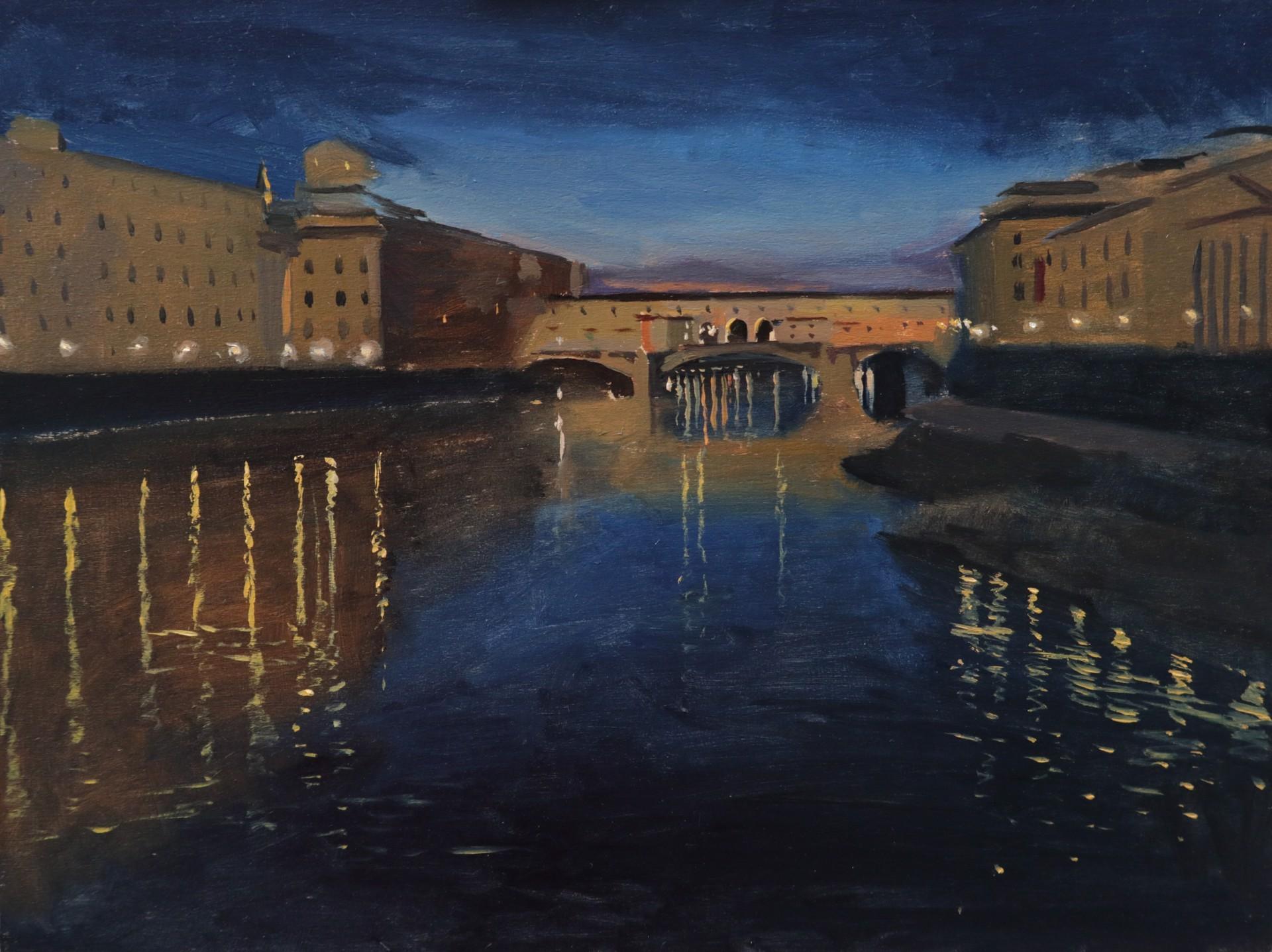 Dusk over Ponte Vecchio by Tanvi Pathare