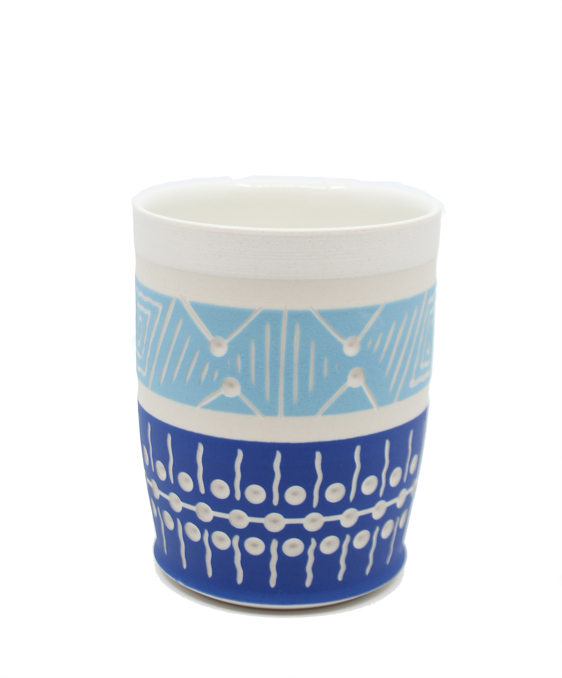 Blue & White Cup by Chris Casey