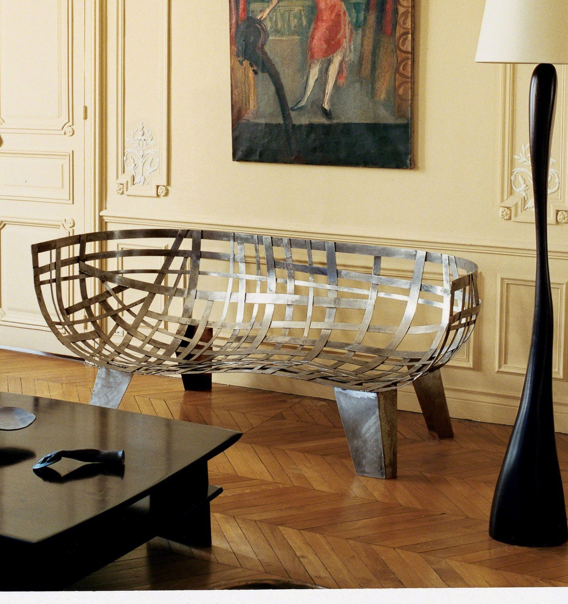 """Moise"" Weaved sofa  by Jacques Jarrige"