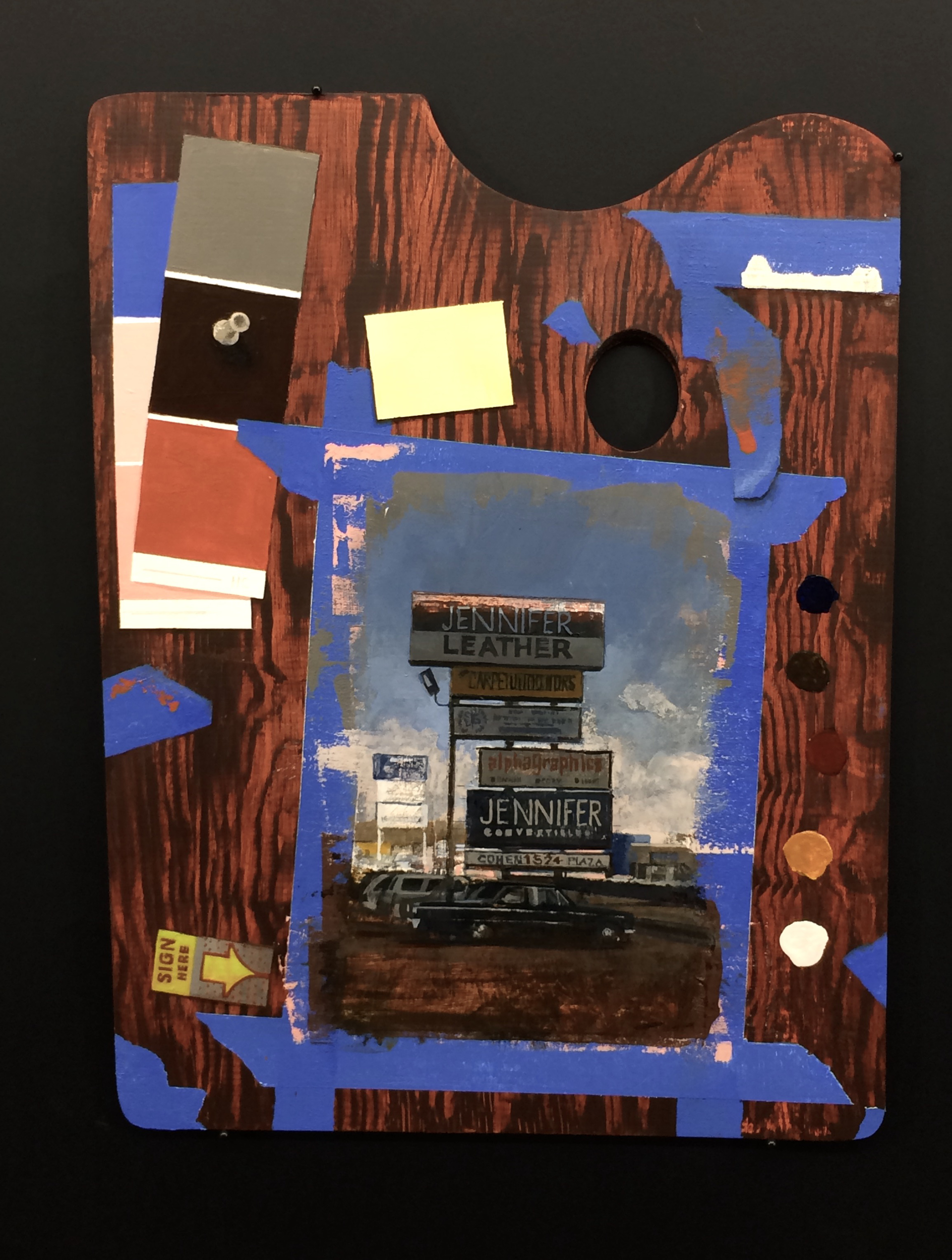 Trompe l'oeil Blue Tape by Andrew Haines