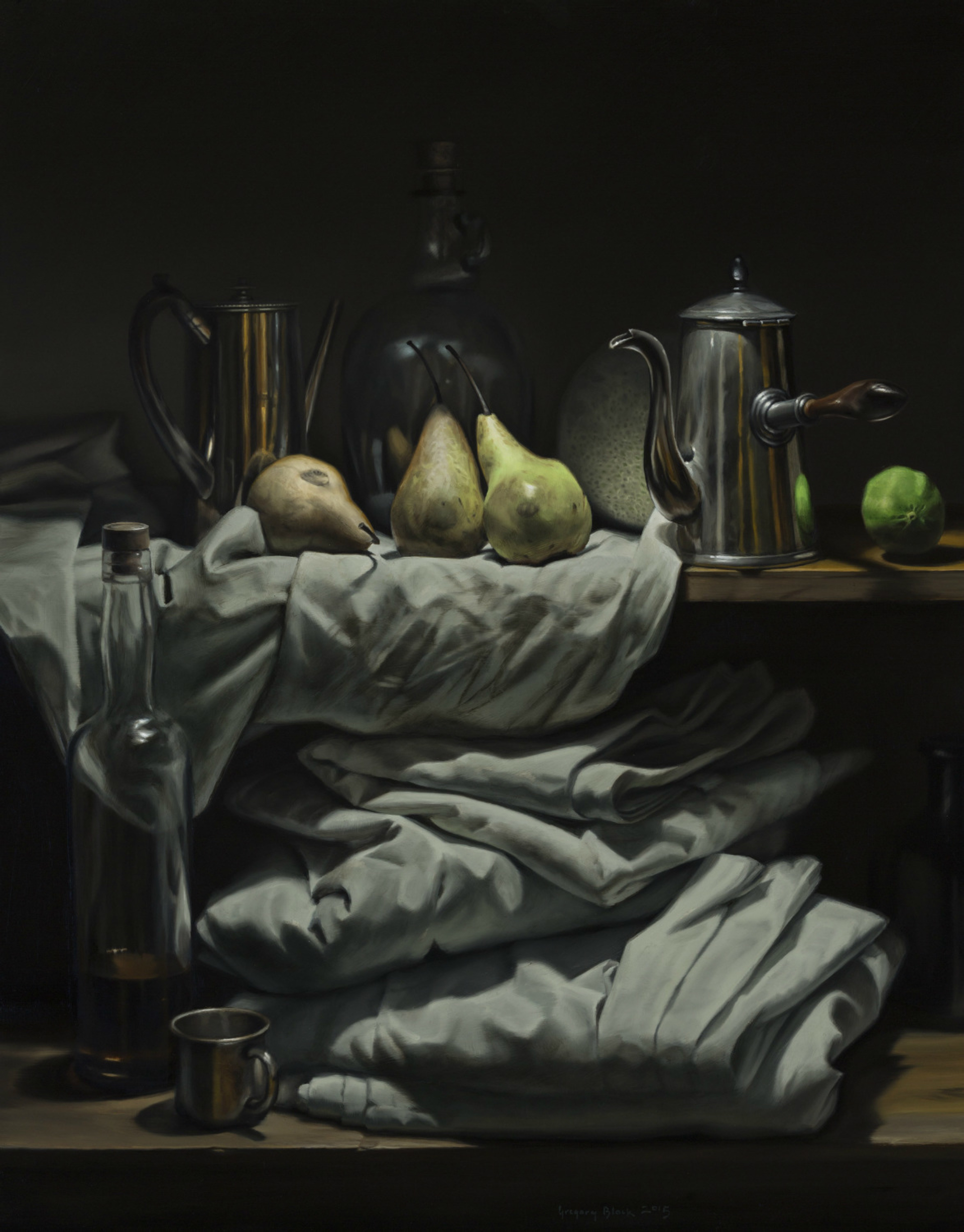 Three Pears by Gregory Block
