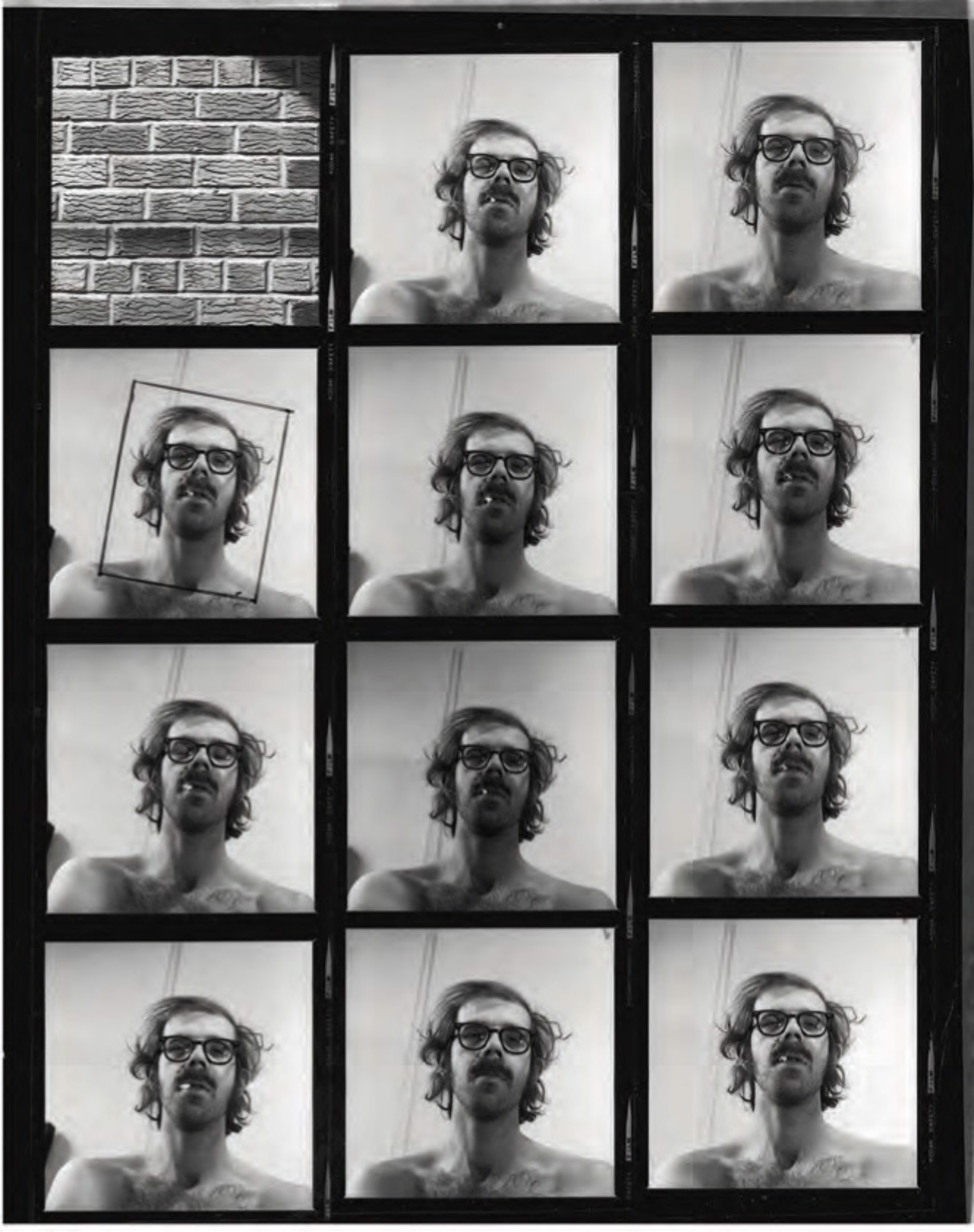 Untitled (contact sheet) by Chuck Close