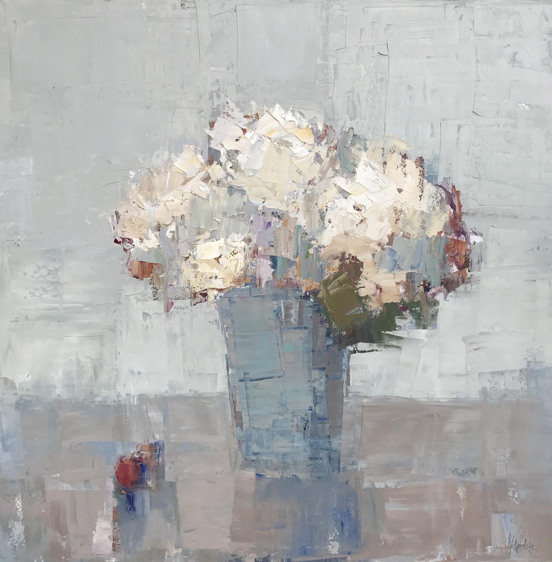 Blue Vase by Barbara Flowers
