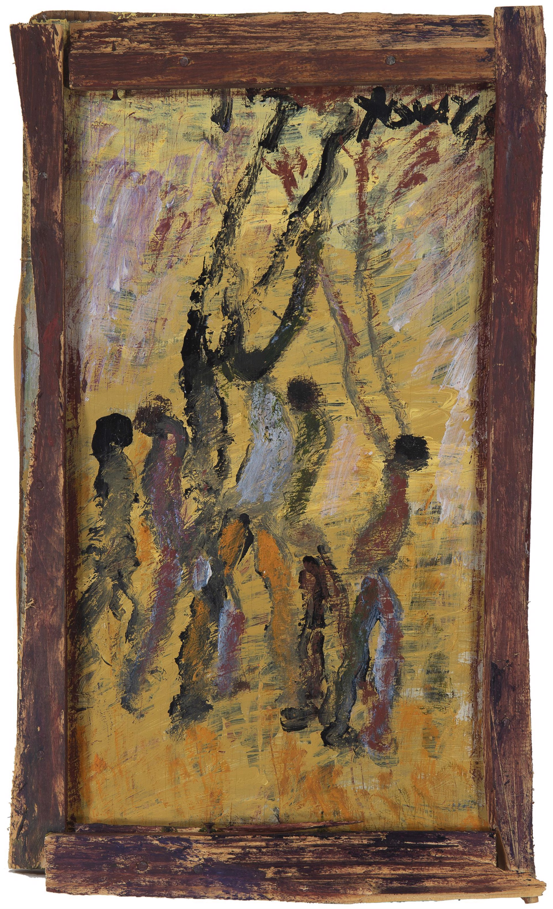 Basketball Figures by Purvis Young (1943 - 2010)