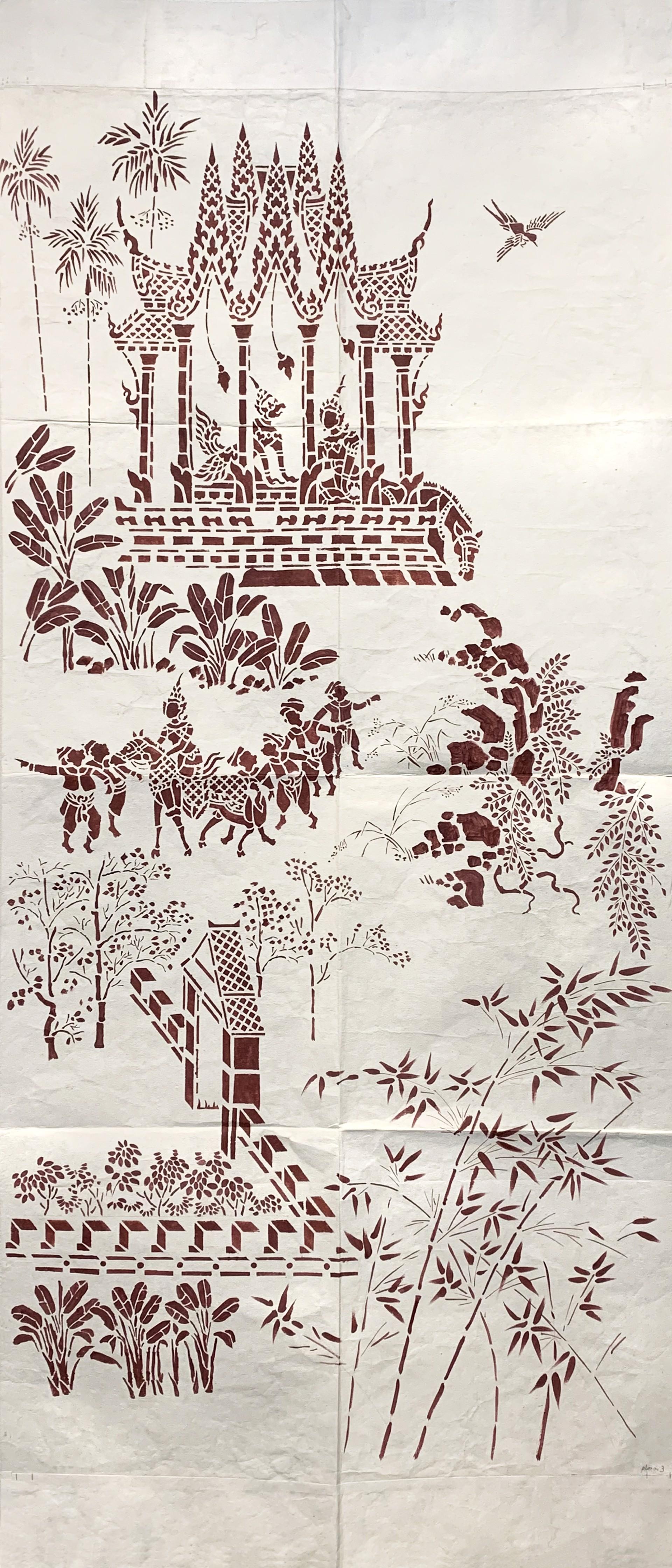 Legend of Kalaket: Stencil Positive II by Tiao Nithakhong Somsanith