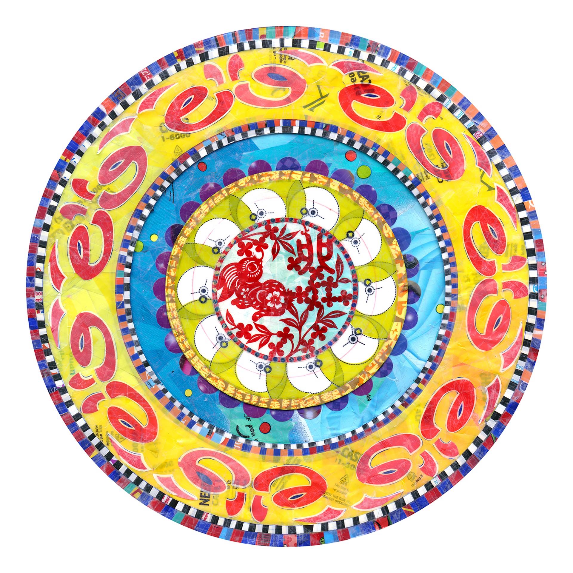Power Flower Mandala by Virginia Fleck