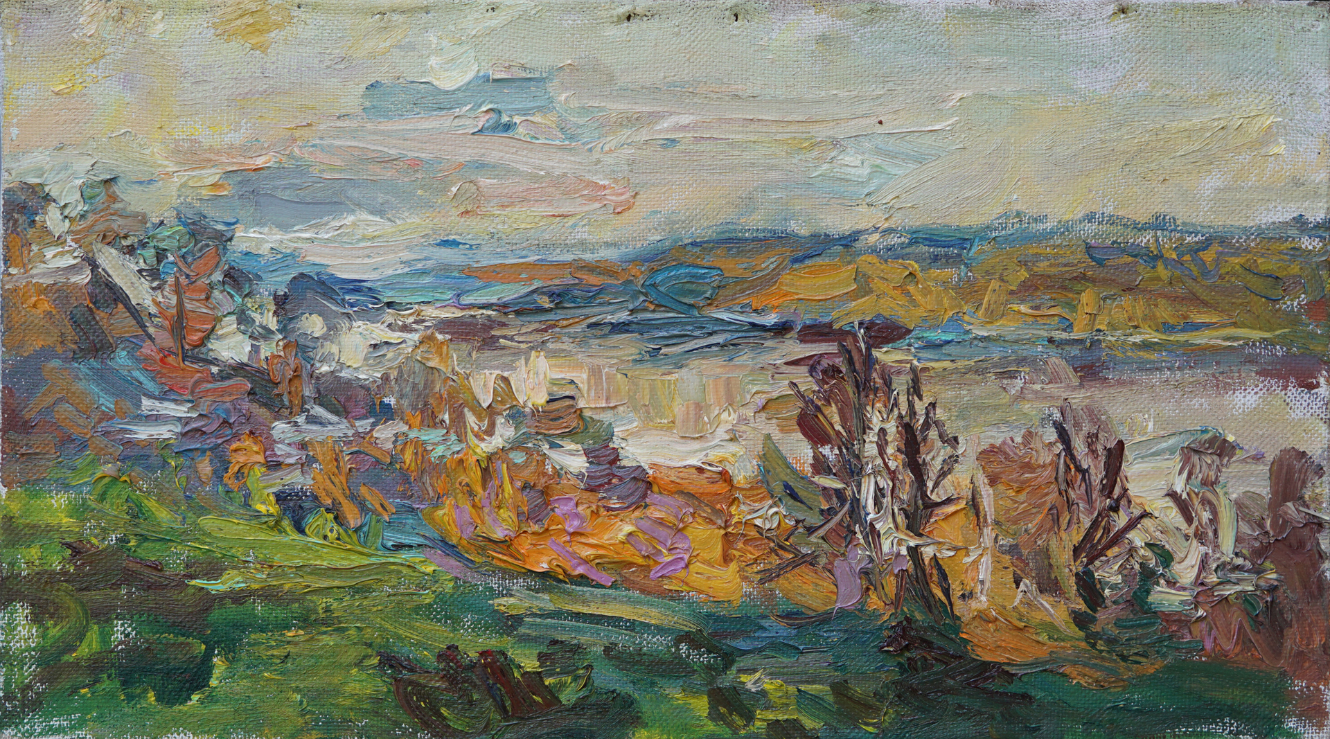 The Volga River in October by Ulrich Gleiter