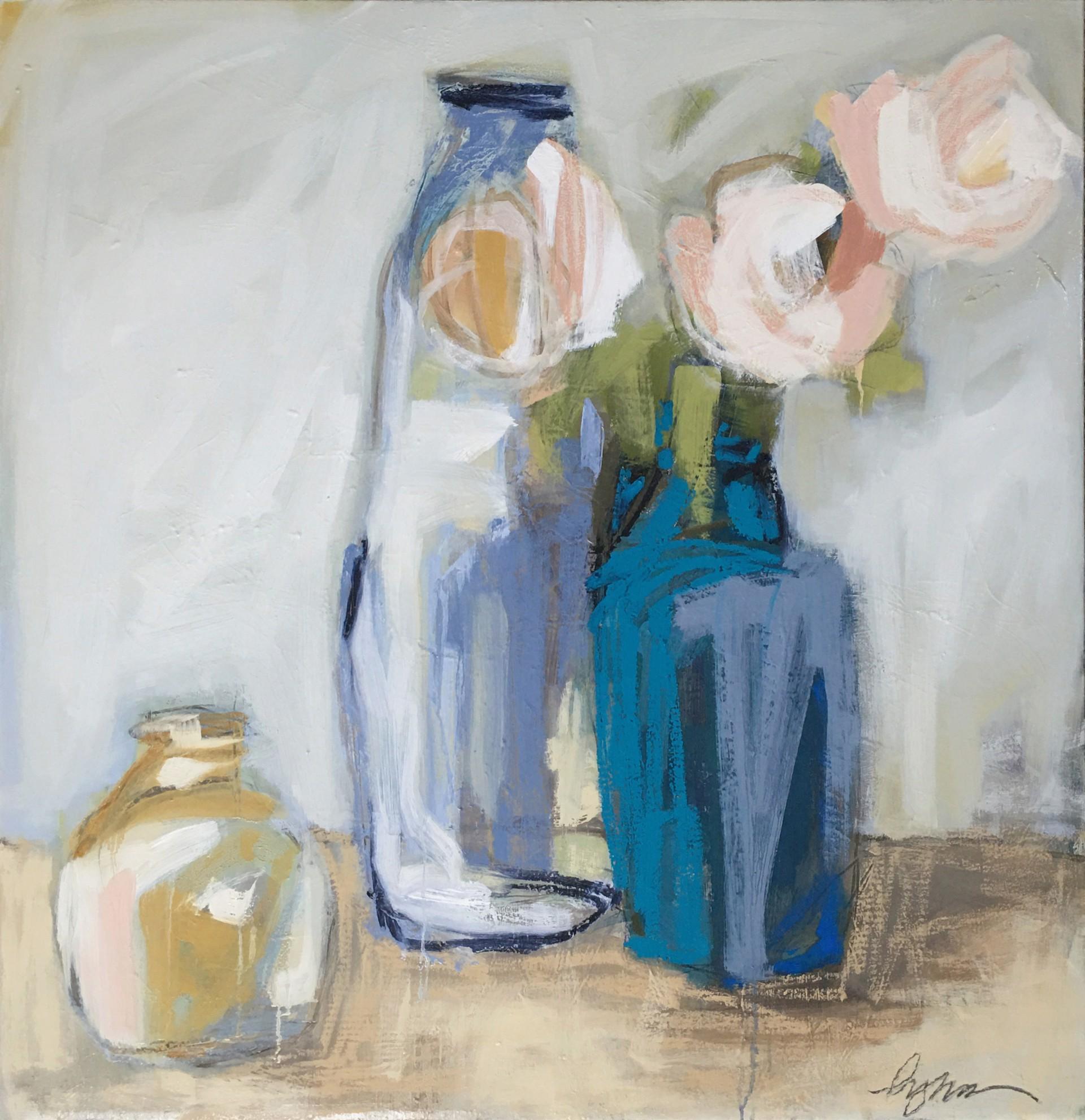 Peonies in Blue by Lynn Johnson