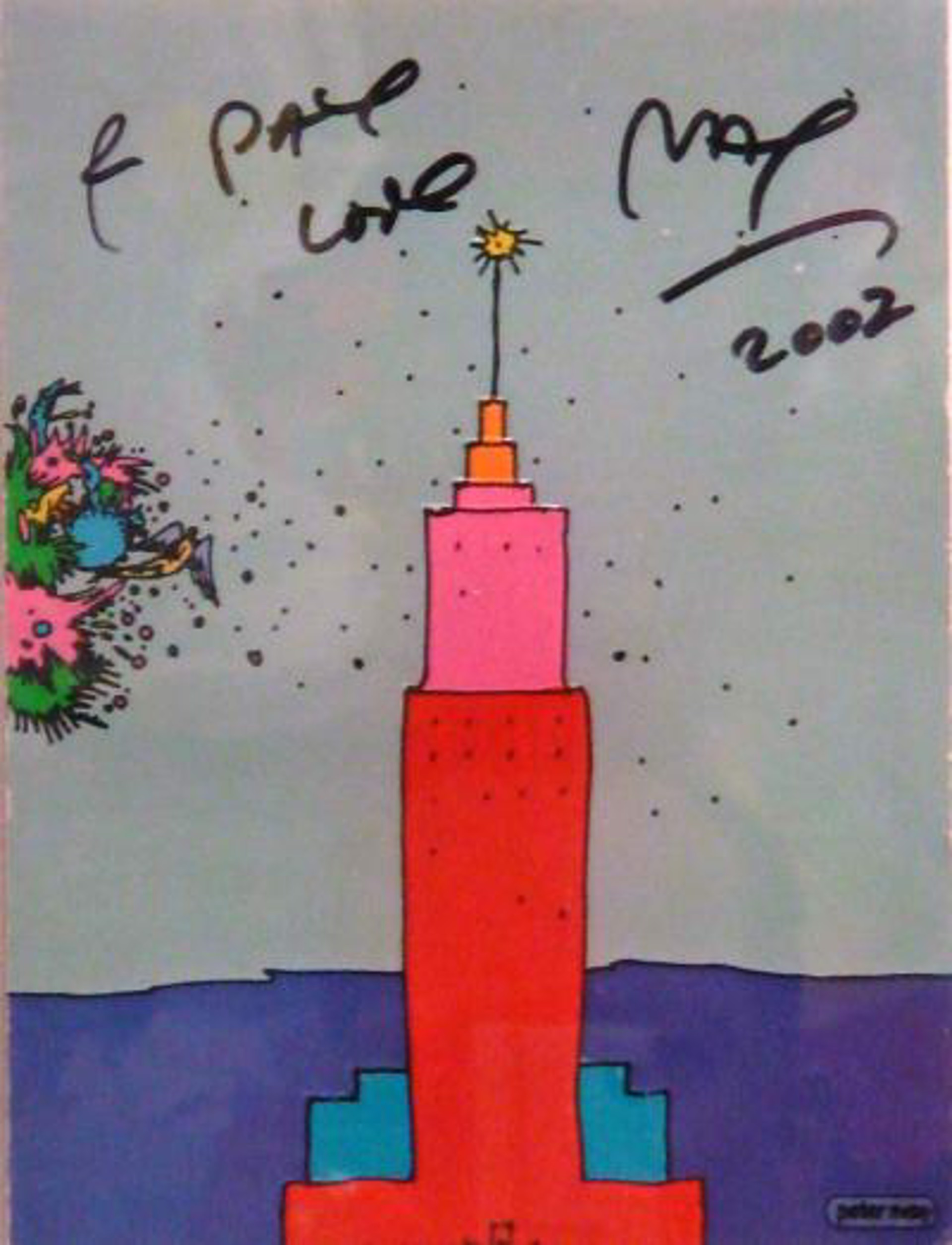 Empire State Building NYC by Peter Max