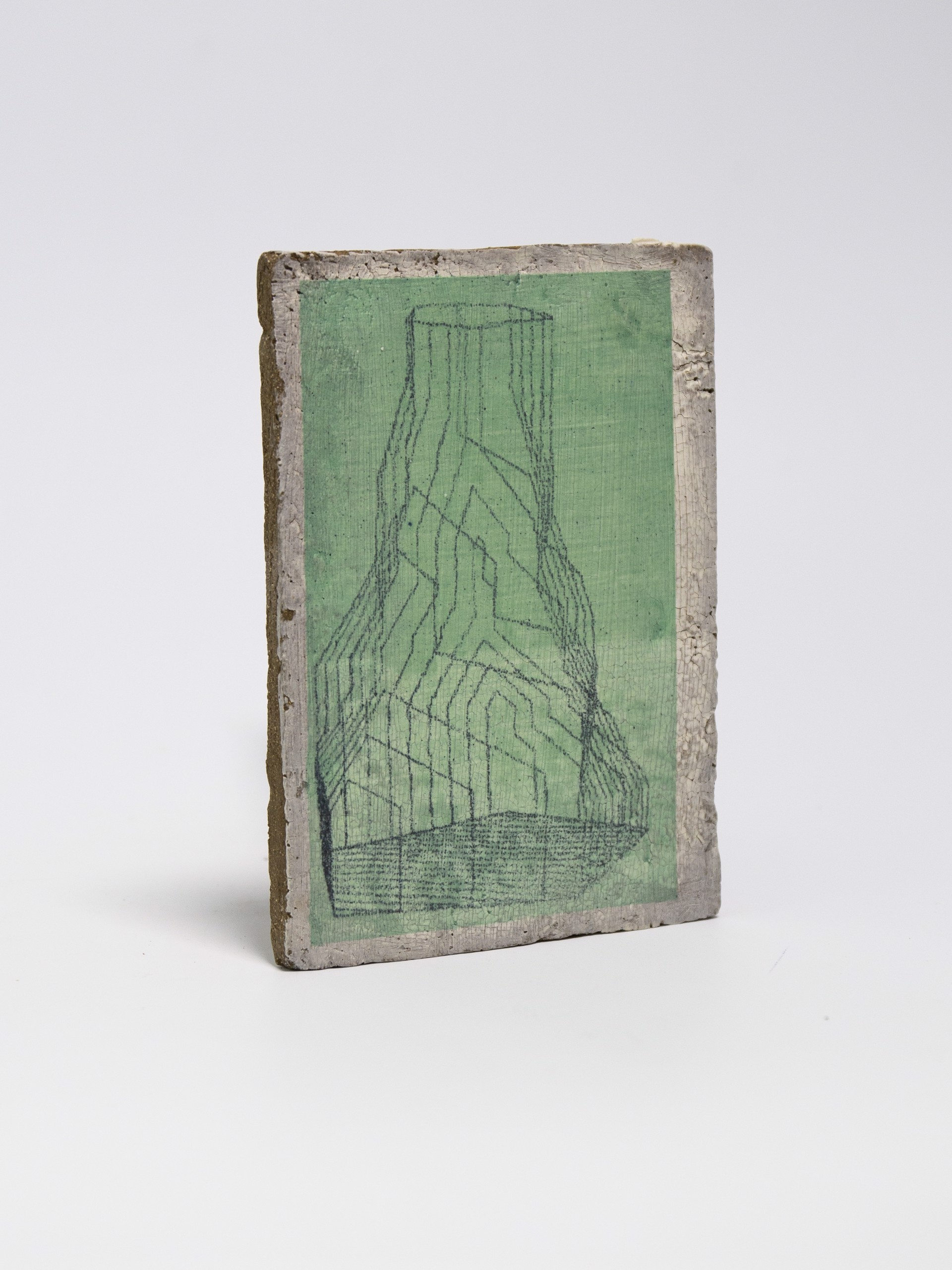 Line Blend (Mountain Vase) (With Gali Greenspan) by Johnathan Hopp