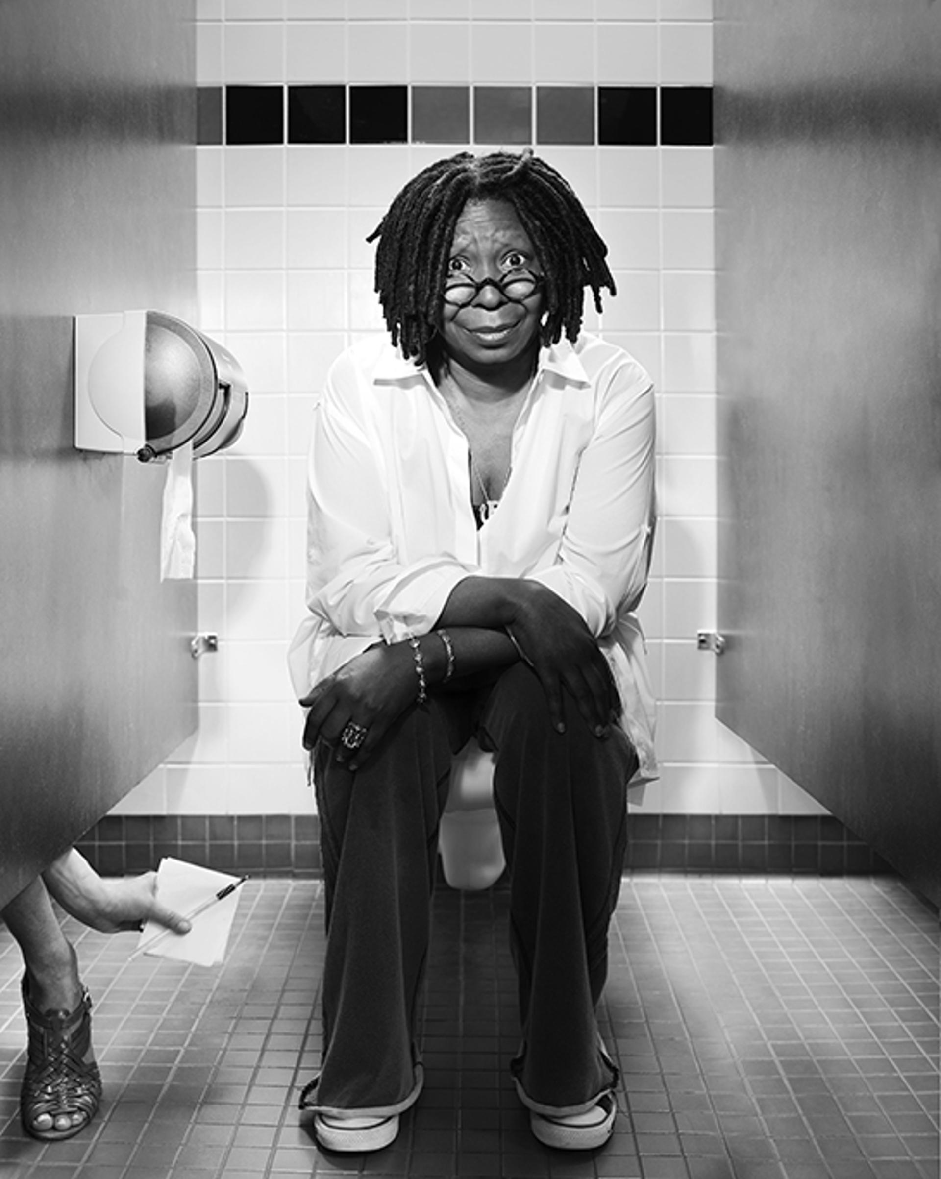 10009 Whoopi Goldberg Toilet 2010 BW by Timothy White