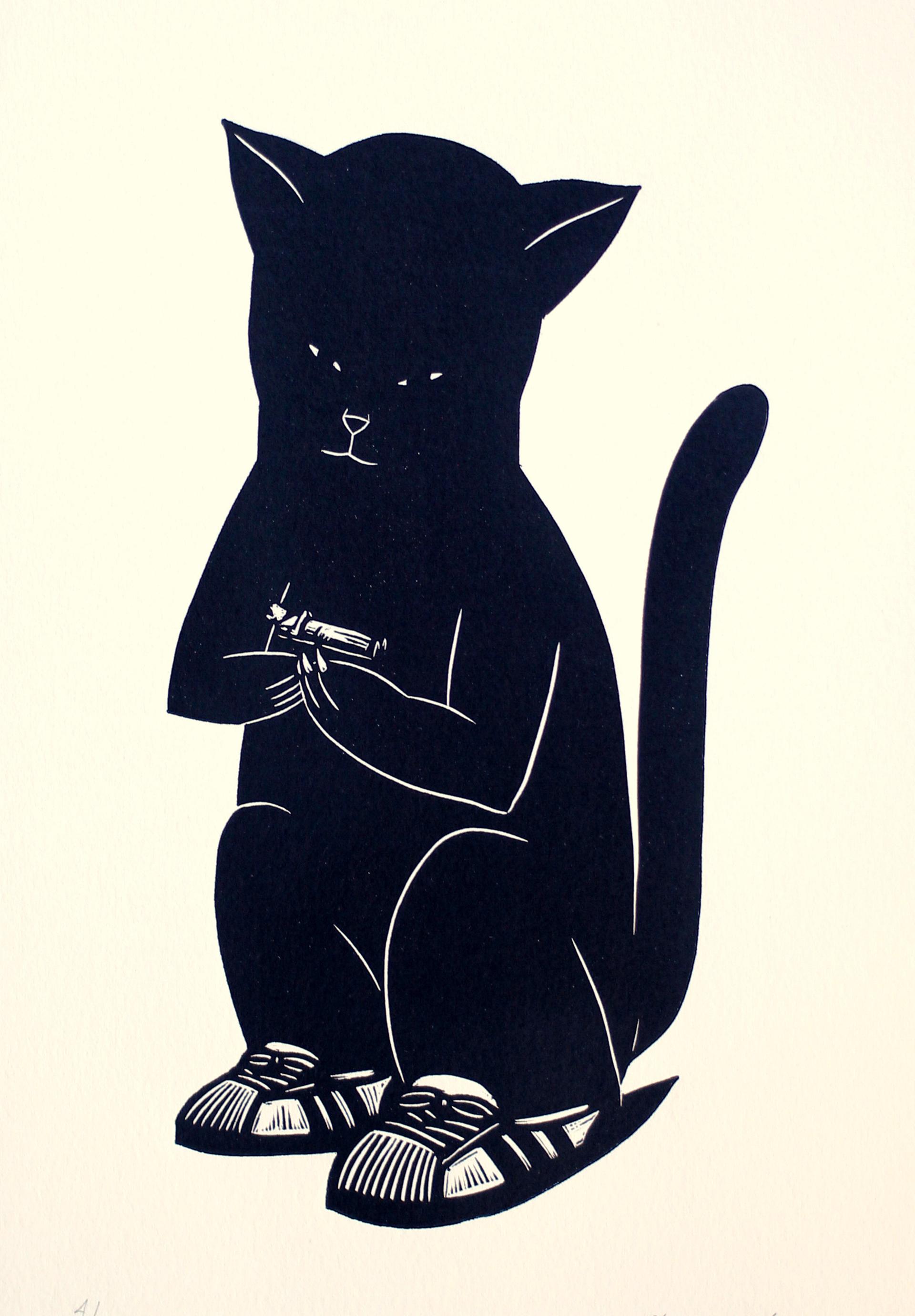 Gato Con Niño by Alberto Cruz