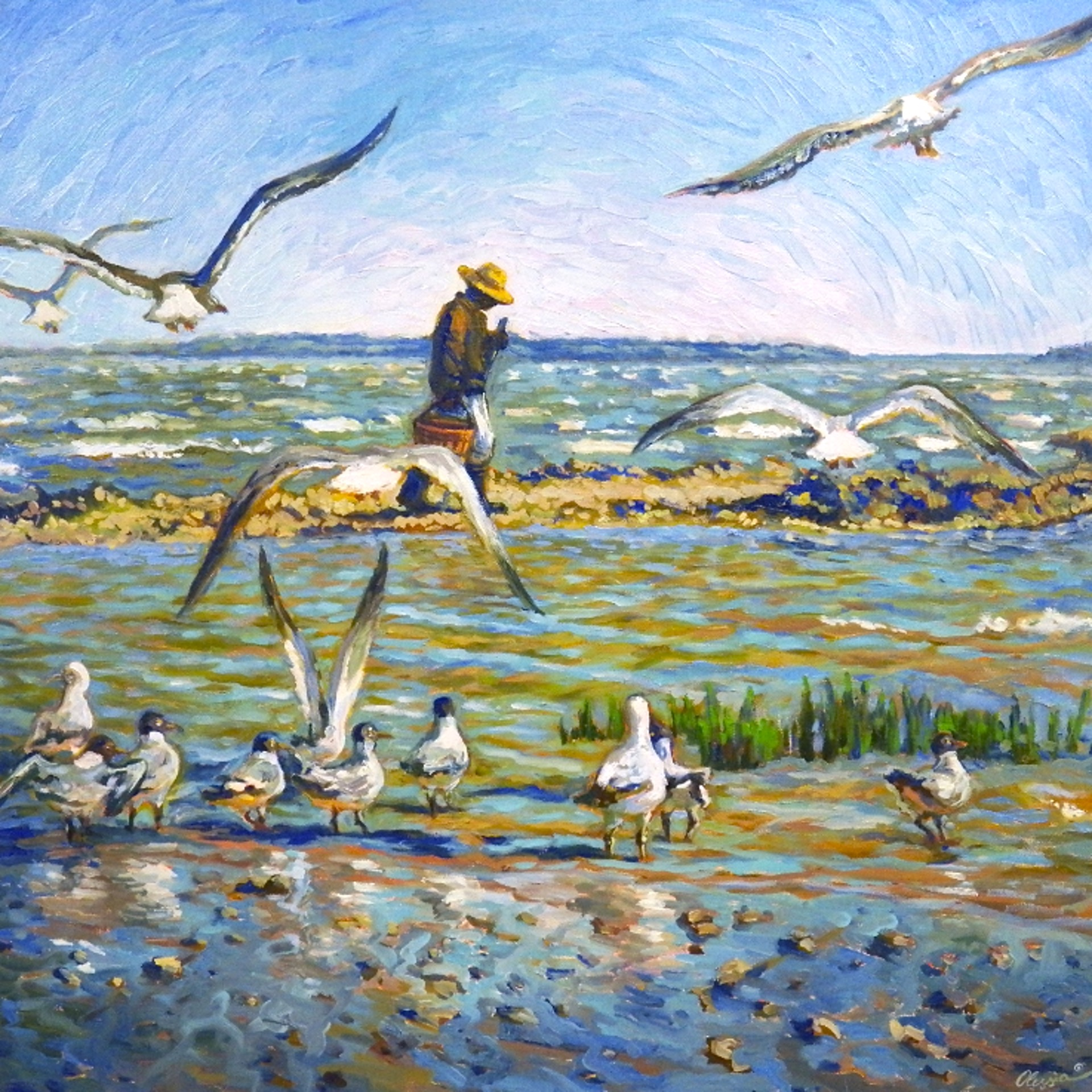 Flock of Gulls by Olessia Maximenko