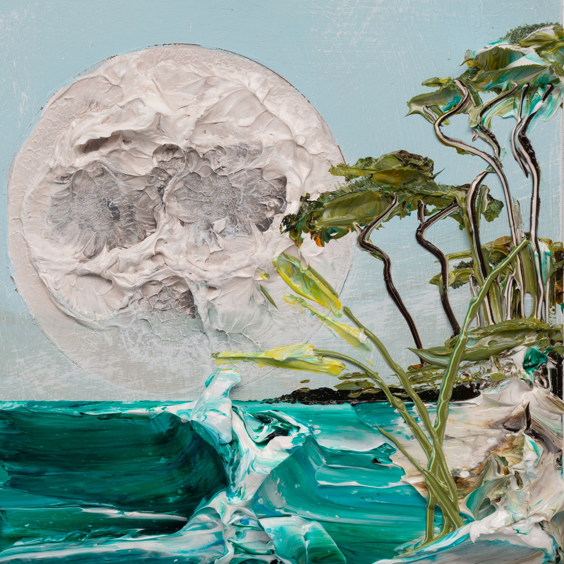 (SOLD) MOONSCAPE MS-12X12-2019-323 by JUSTIN GAFFREY